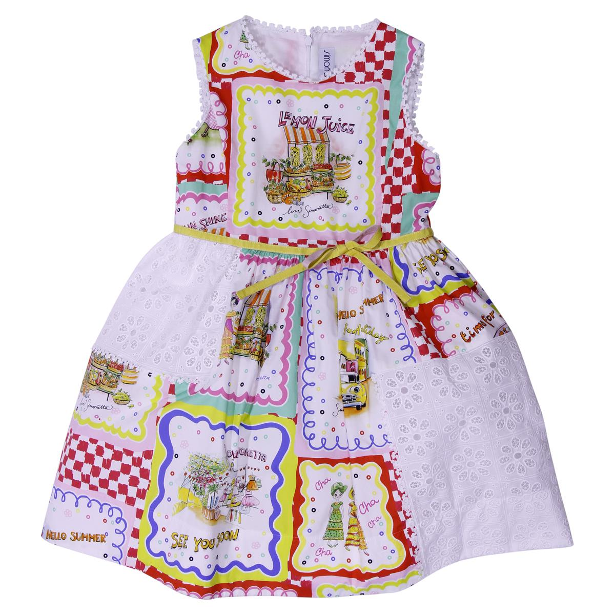 Simonetta Printed Cotton Dress