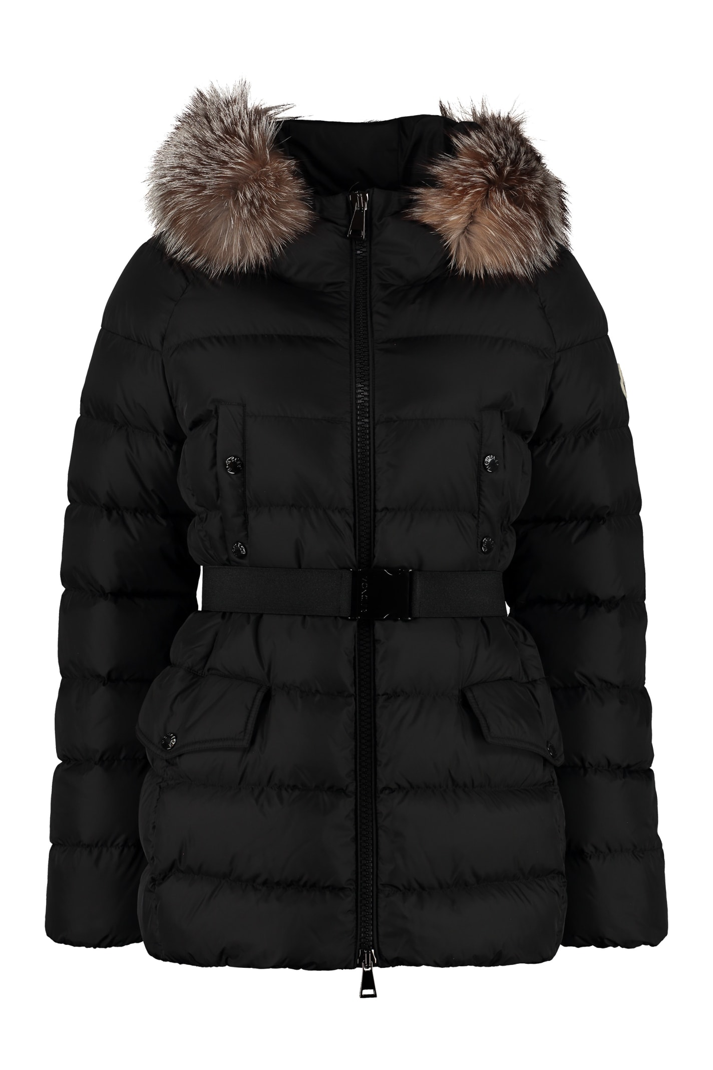 Moncler Clion Zippered Padded Jacket With Belt