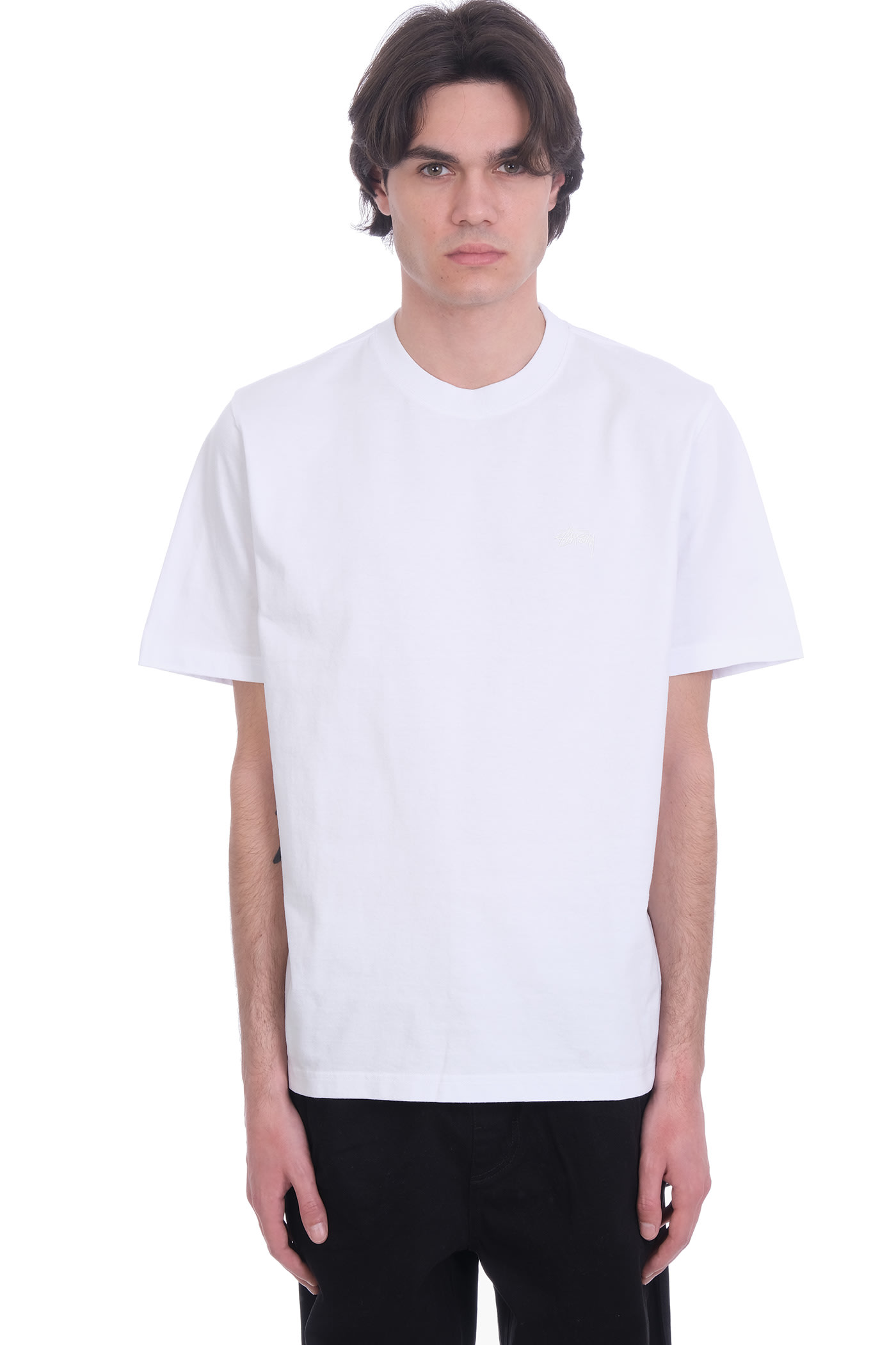 Stussy Cottons T-SHIRT IN WHITE COTTON