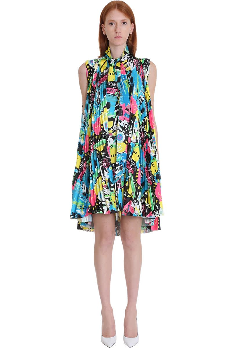 Buy Balenciaga Dress In Multicolor Polyester online, shop Balenciaga with free shipping