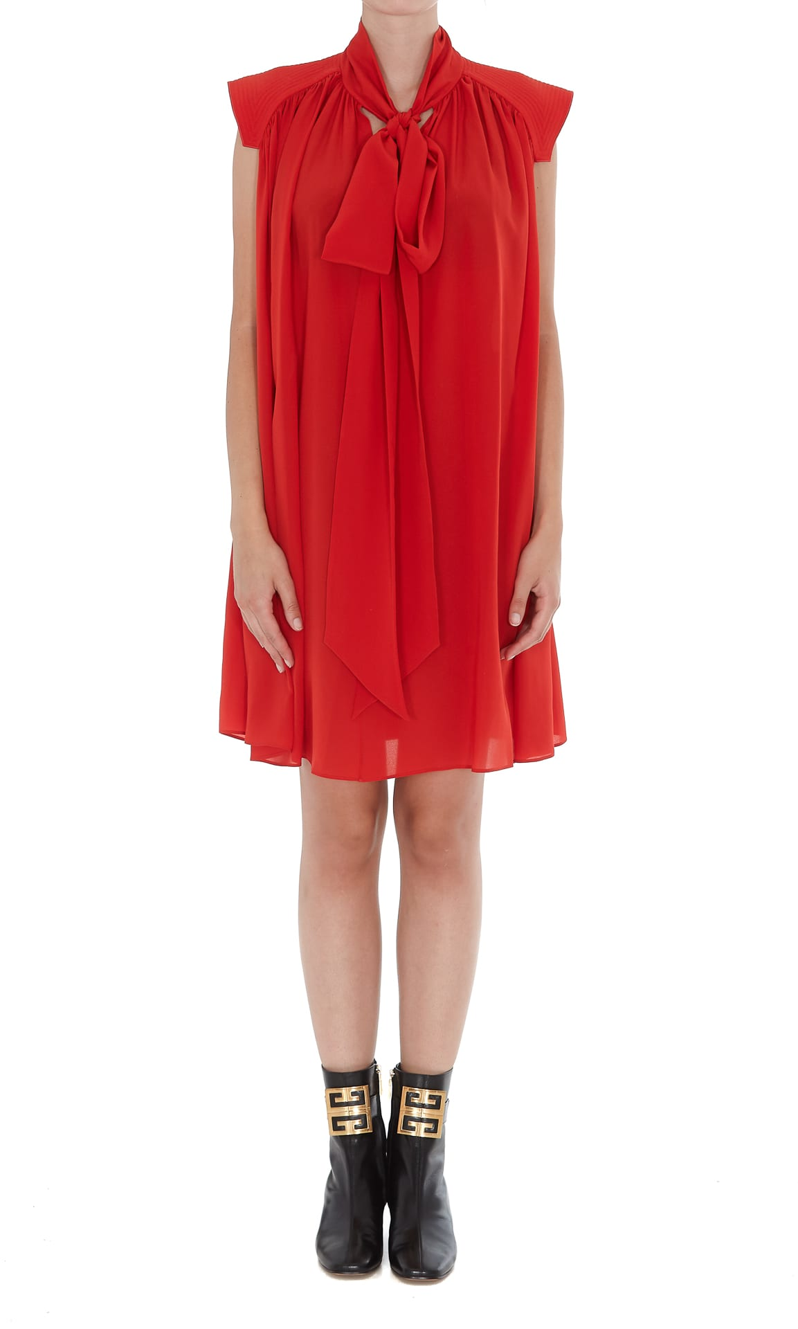 Givenchy Dress With Scarf Collar