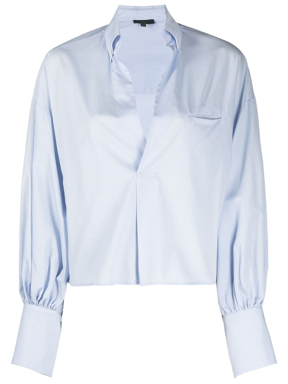 Jejia LIGHT BLUE COTTON SHIRT WITH OVERSIZED SLEEVES