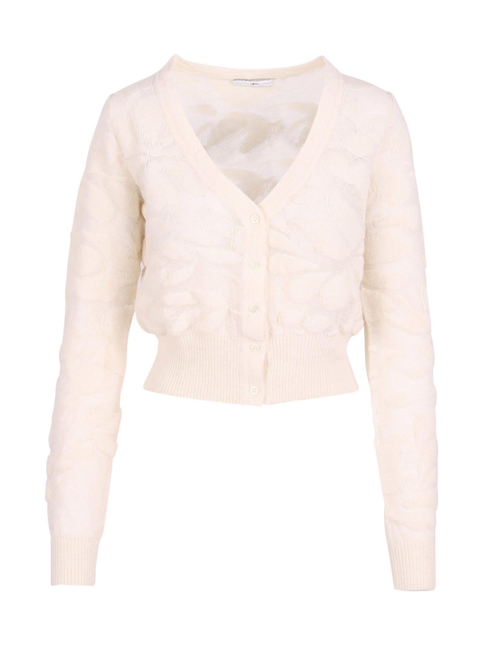 Nylon V-neck Sweater