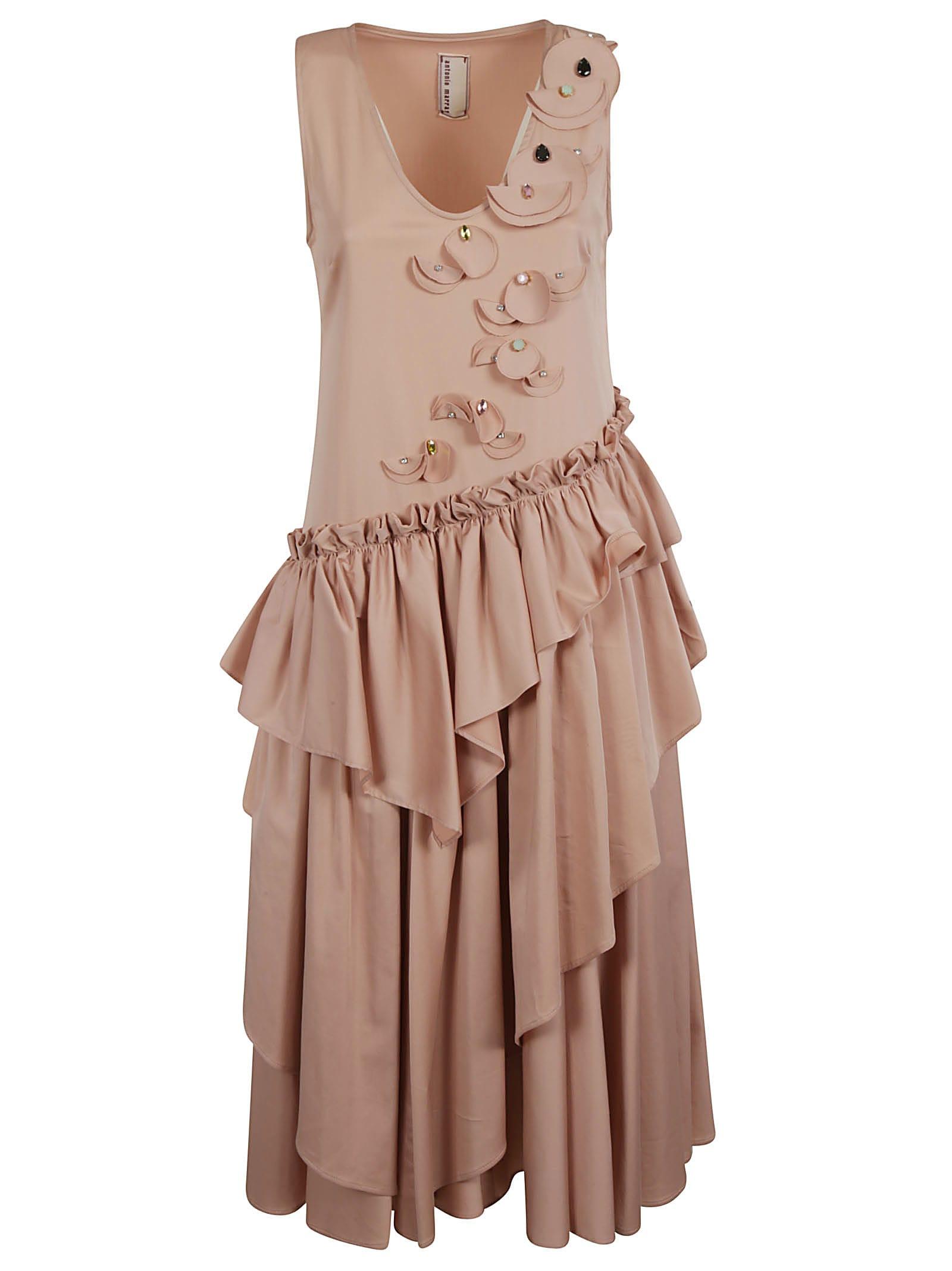 Buy Antonio Marras Ruffled Sleeveless Dress online, shop Antonio Marras with free shipping