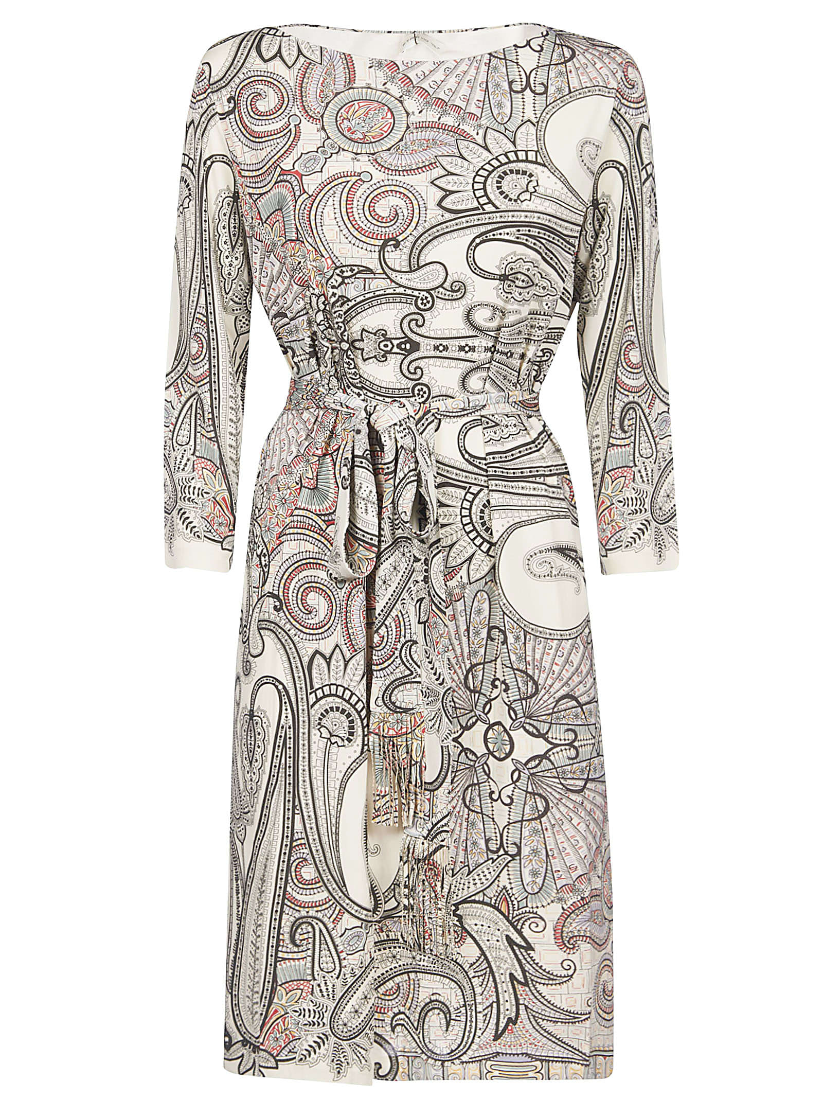 Buy Etro Abstract Print Belted Dress online, shop Etro with free shipping