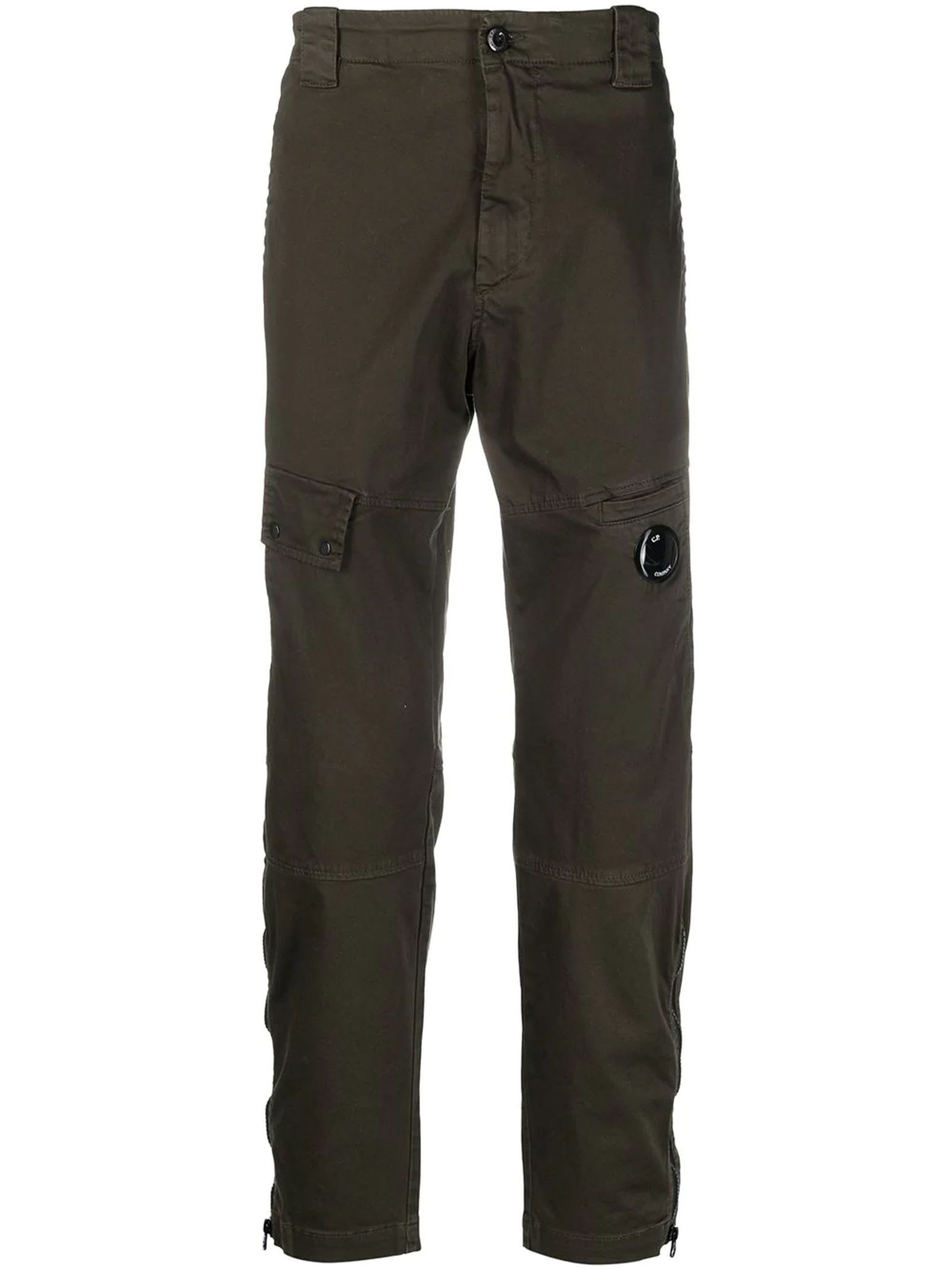 C.p. Company STRETCH SATEEN GARMENT DYED PANTS