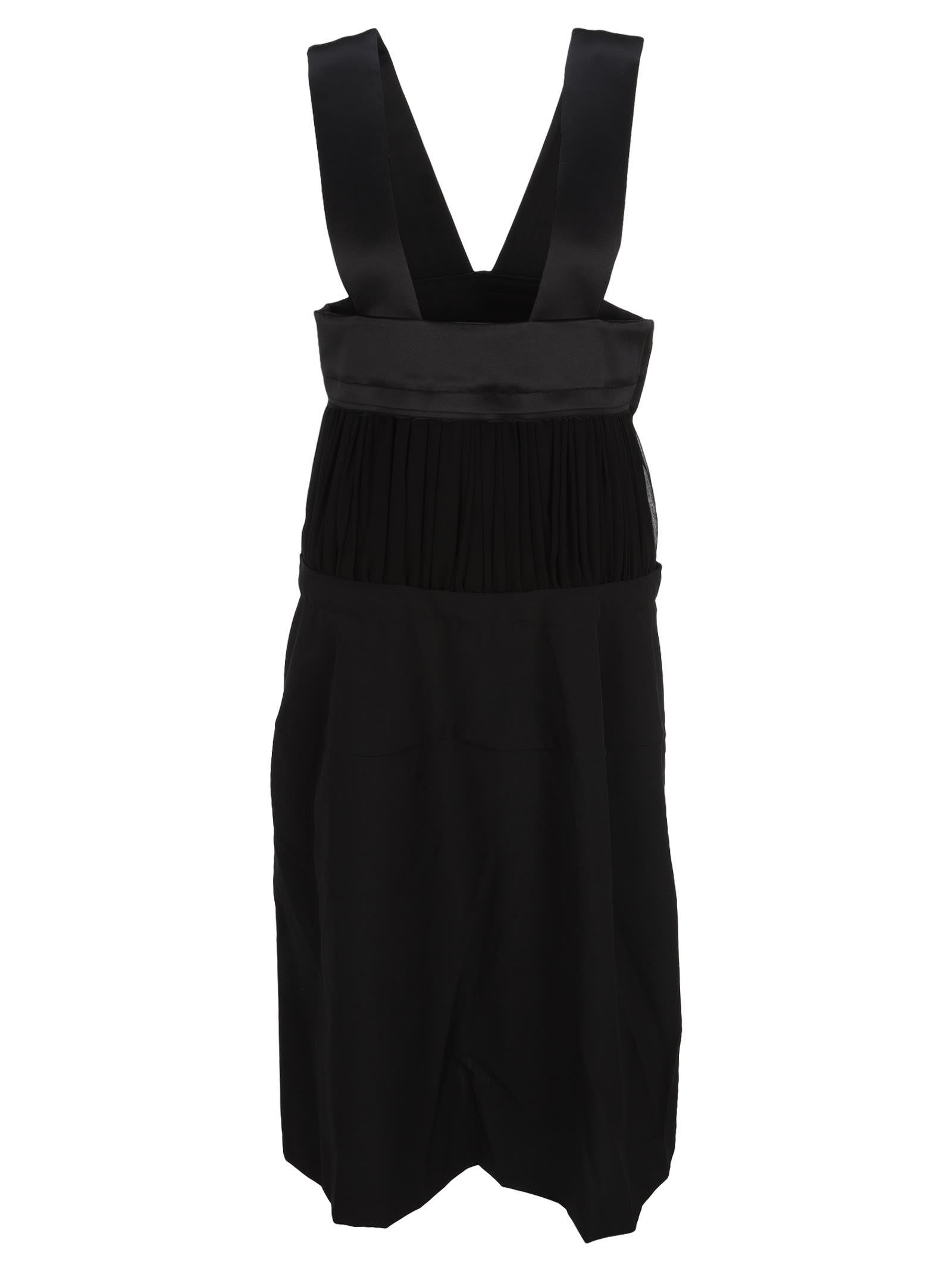 Buy Comme Des Garcons Salopette Midi Dress online, shop Comme des Gar?ns with free shipping