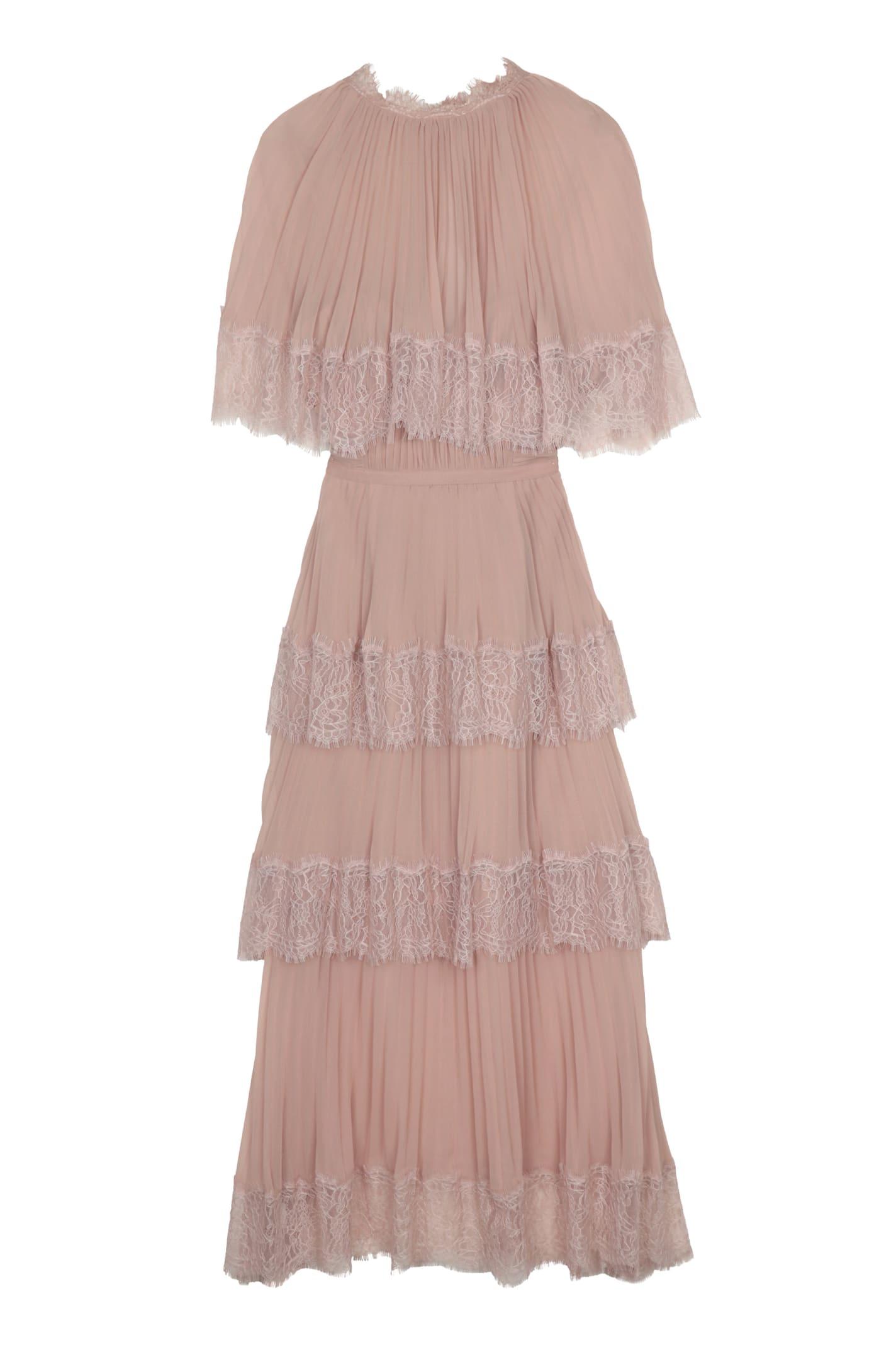 Buy self-portrait Lace Trim Chiffon Dress online, shop self-portrait with free shipping