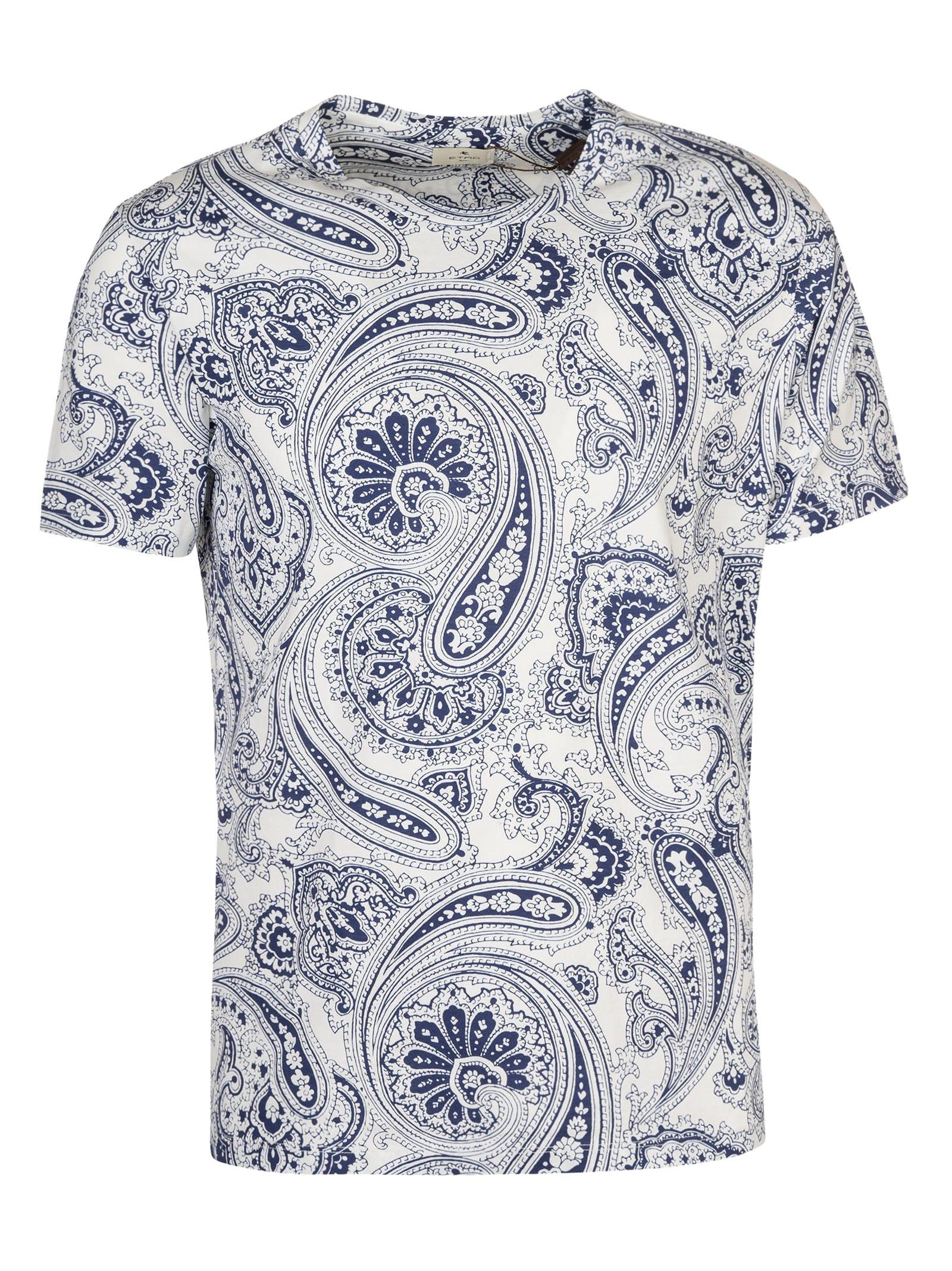 Etro T-shirts PAISLEY PRINT T-SHIRT