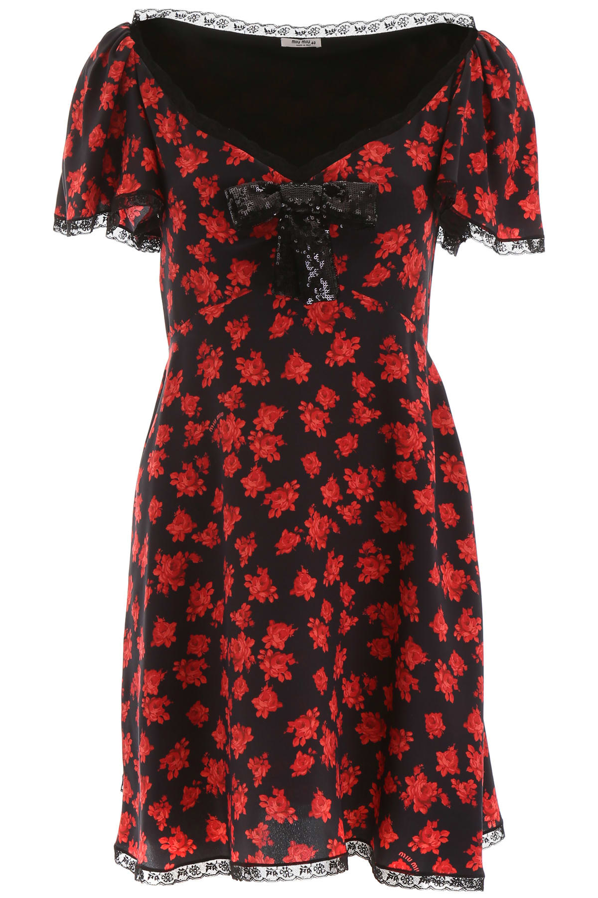 Miu Miu Rose Print Mini Dress