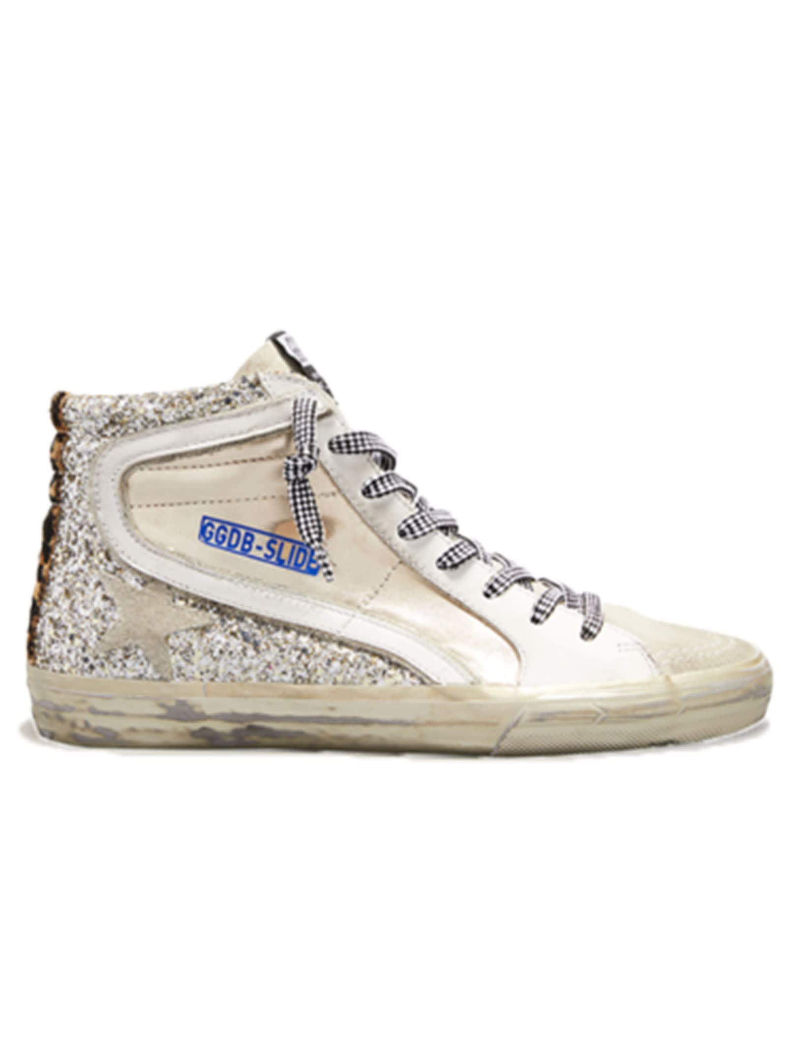 Golden Goose Silver Slide Sneakers
