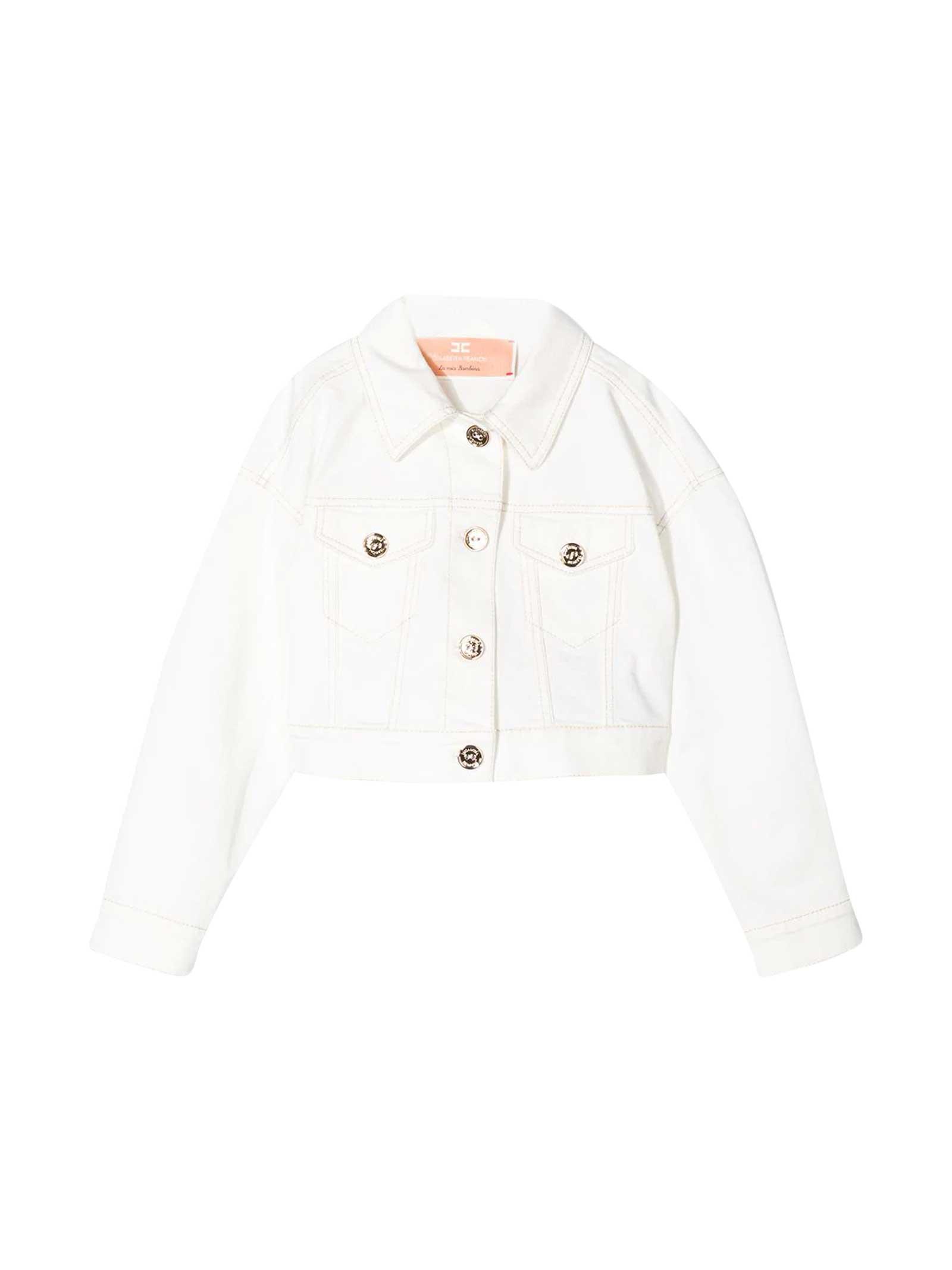 Elisabetta Franchi La Mia Bambina White Jacket