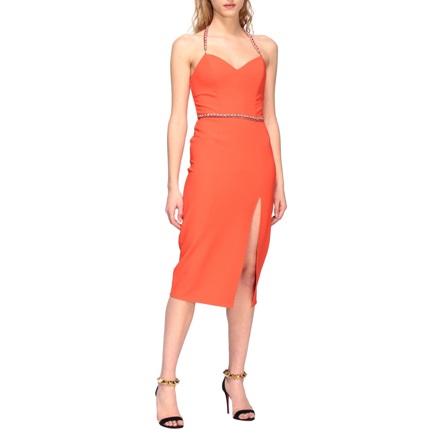 Buy Elisabetta Franchi Dress Elisabetta Franchi Sheath Dress With Chain online, shop Elisabetta Franchi Celyn B. with free shipping