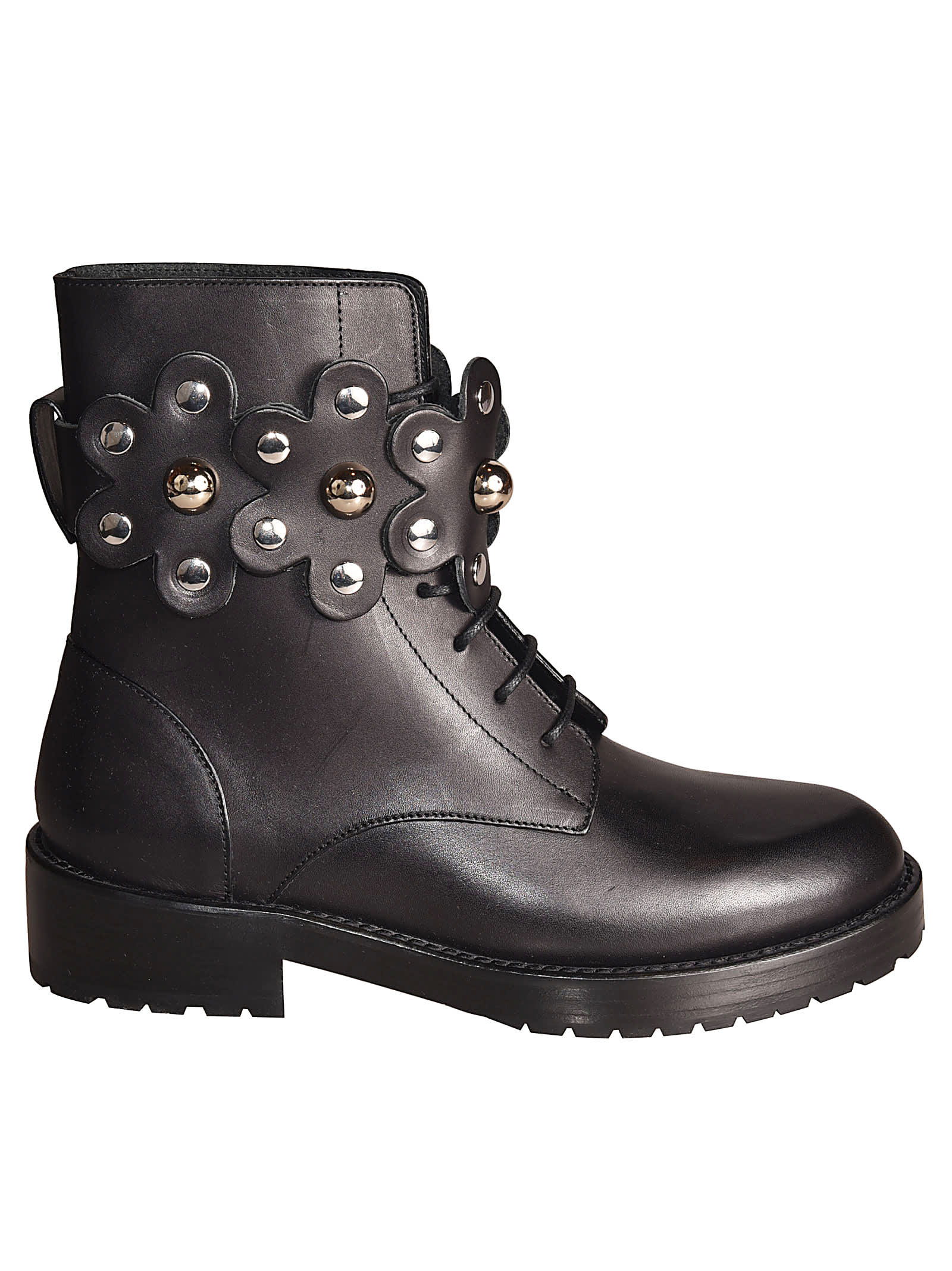 RED Valentino Studded Combat Boots