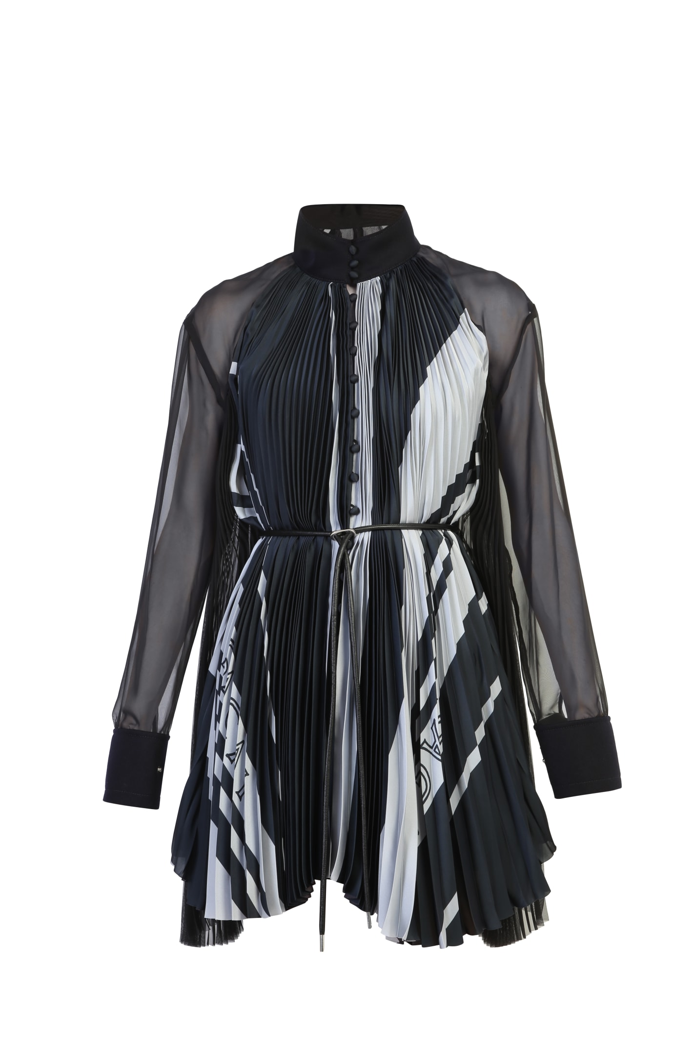 Sacai Tops PLEATED BLOUSE