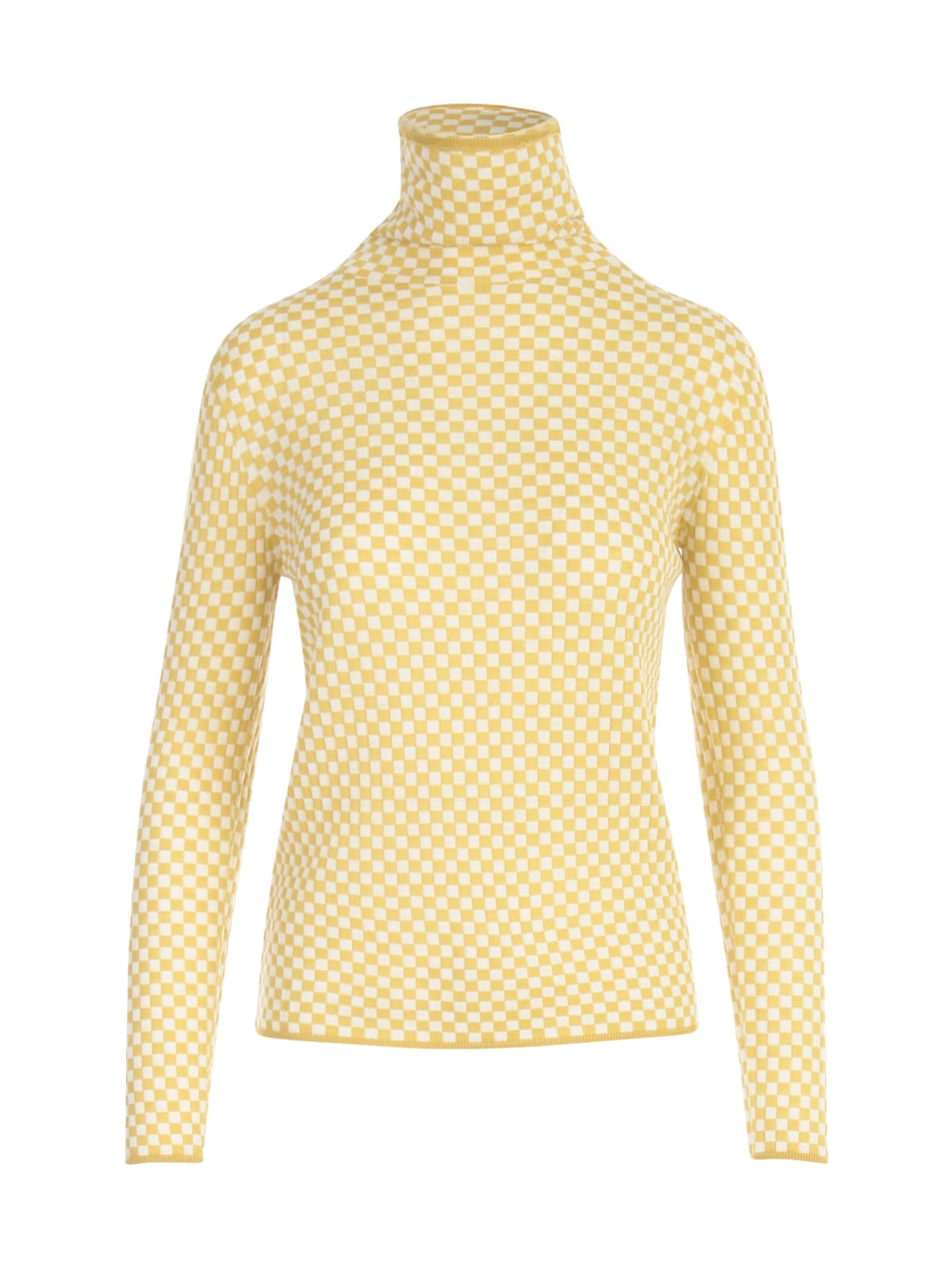 Checked High Neck Sweater