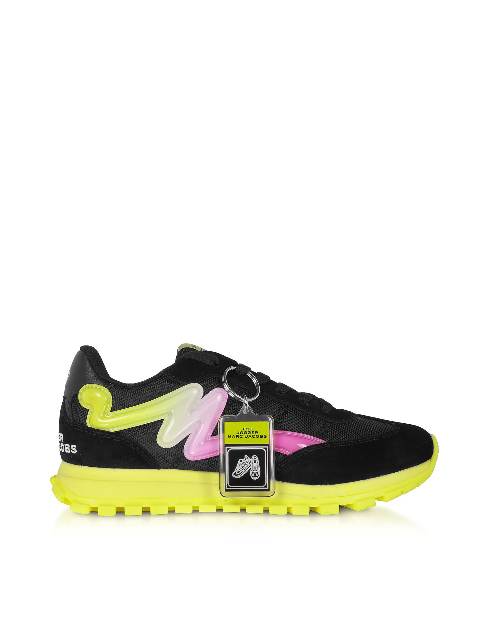 Marc Jacobs The Jogger Black & Neon Nylon Womens Sneakers
