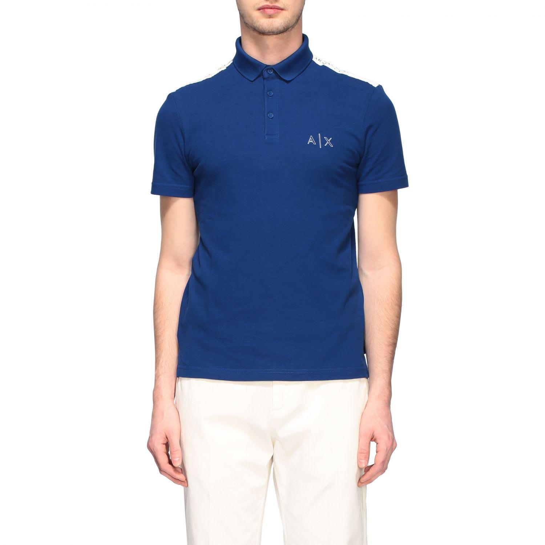 Armani Exchange Polo Shirt Armani Exchange Short-sleeved Polo Shirt With Reflective Logo