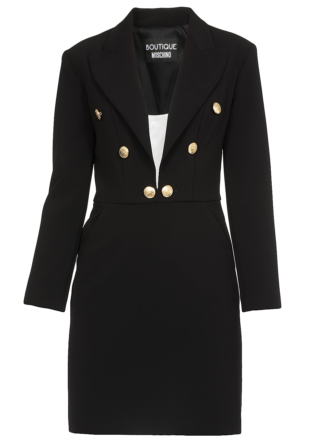 Boutique Moschino Fitted Dress In Black