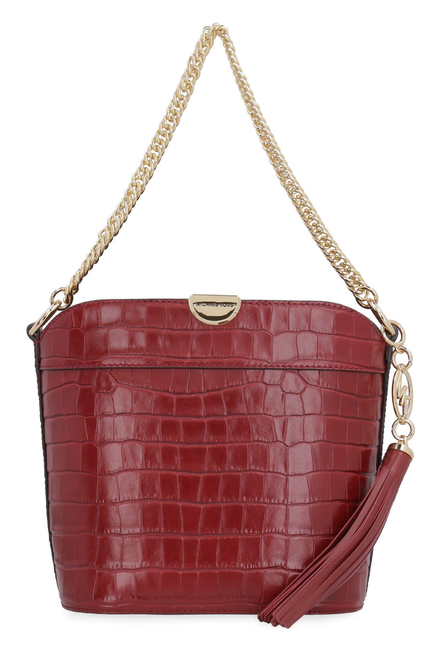 MICHAEL Michael Kors Bea Leather Bucket Bag
