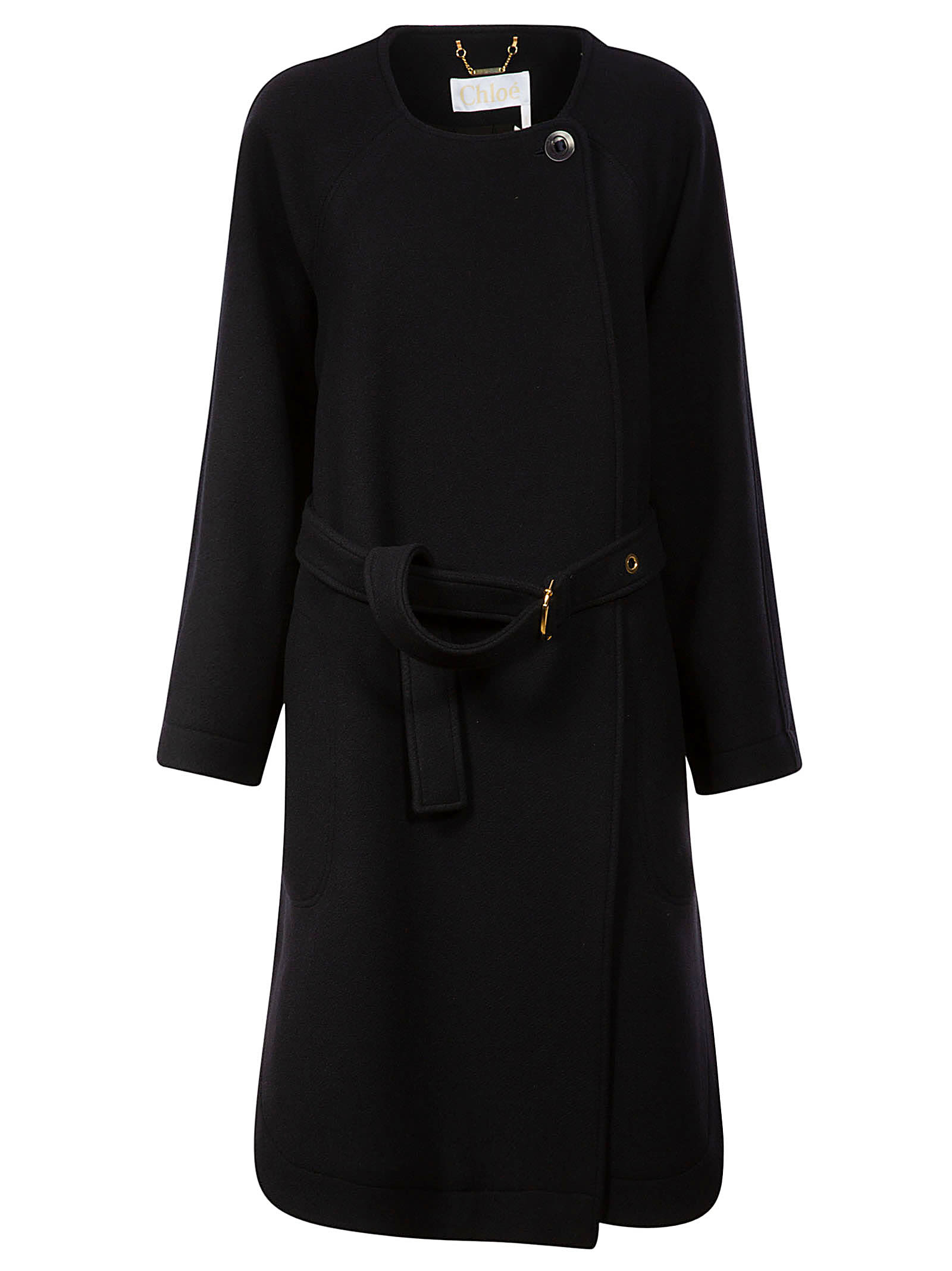 Buy Chloé Coat Belted Waist One-side Dress online, shop Chloé with free shipping