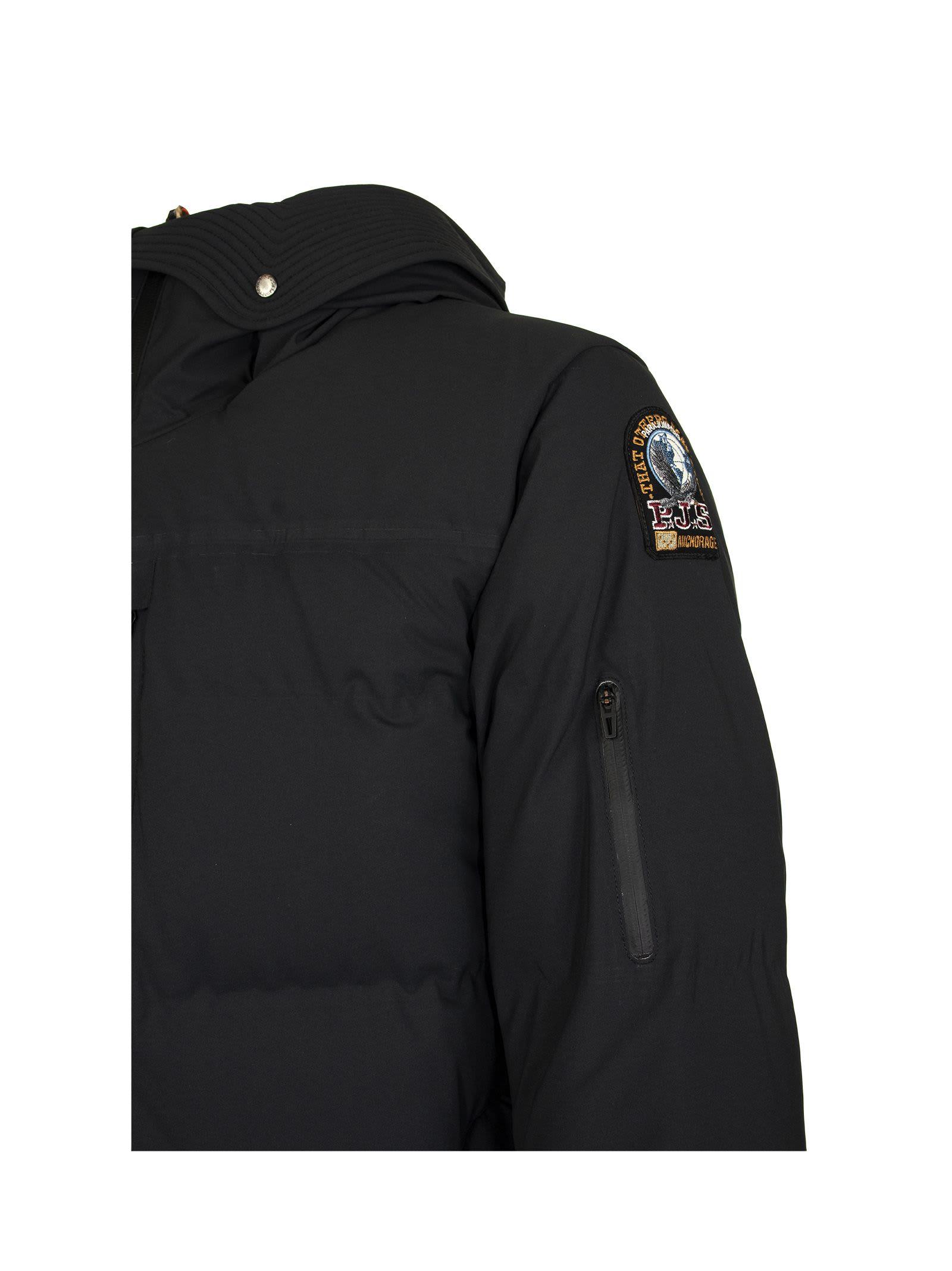 840.00 Mens Parajumpers Right Hand Parka Jacket Black