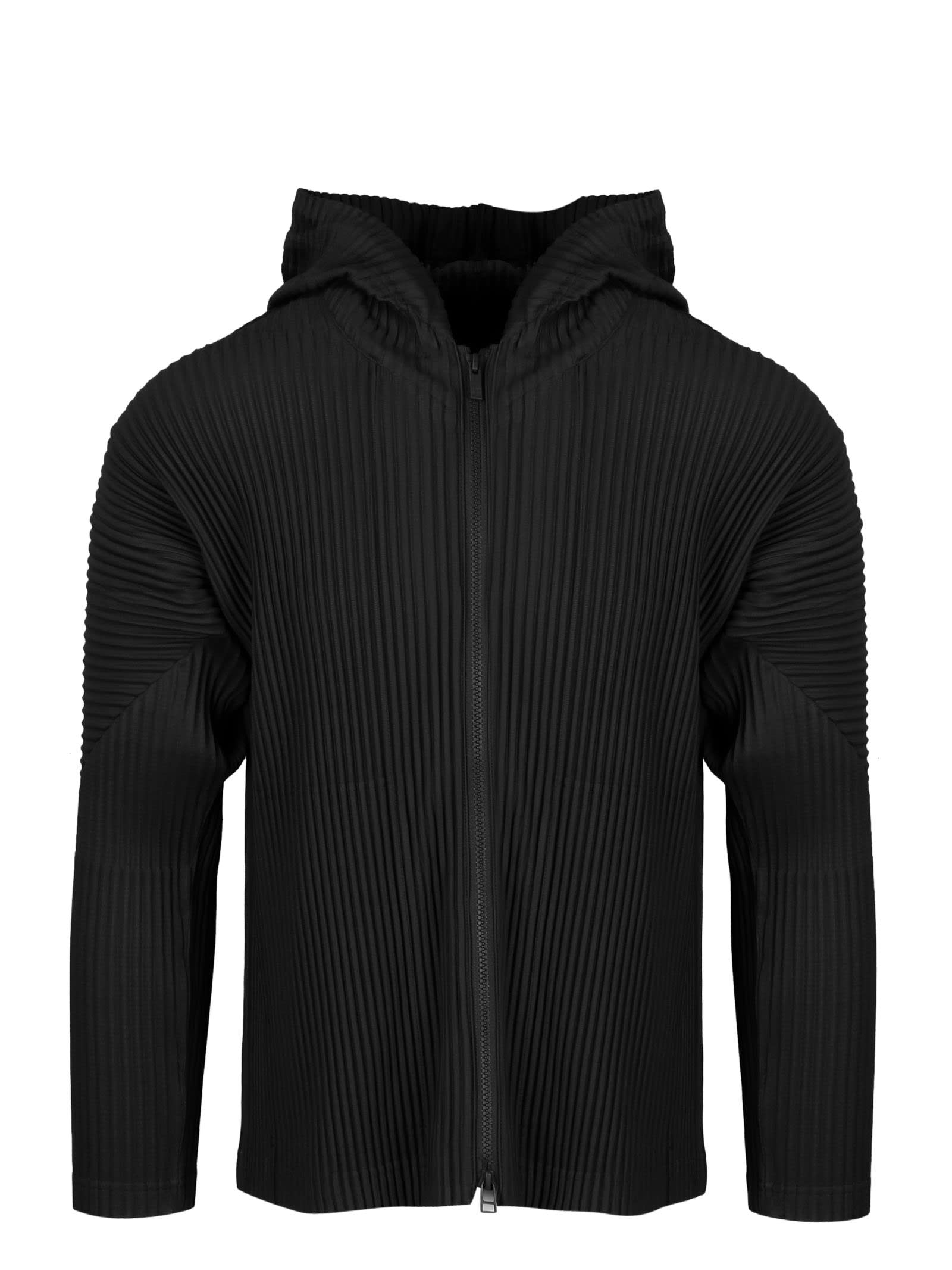 Issey Miyake Full Zip Pleated Hoodie from Issey MiyakeComposition: 100% Polyester