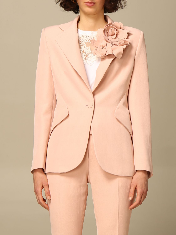 Ermanno Scervino Blazer Ermanno Scervino Jacket With Floral Applications