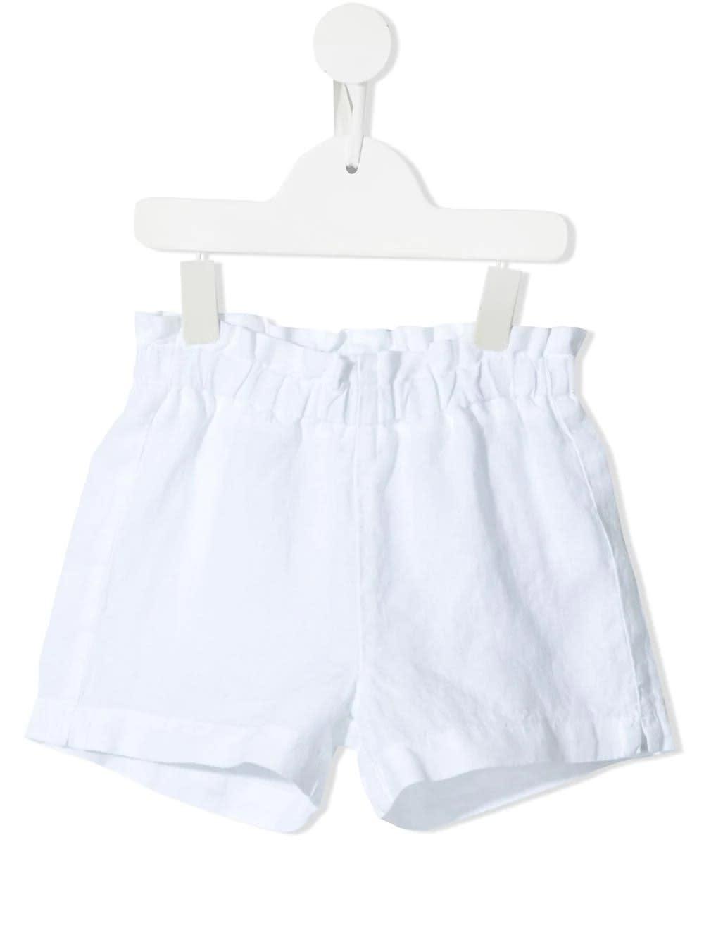 Paperbag-waist Linen Shorts