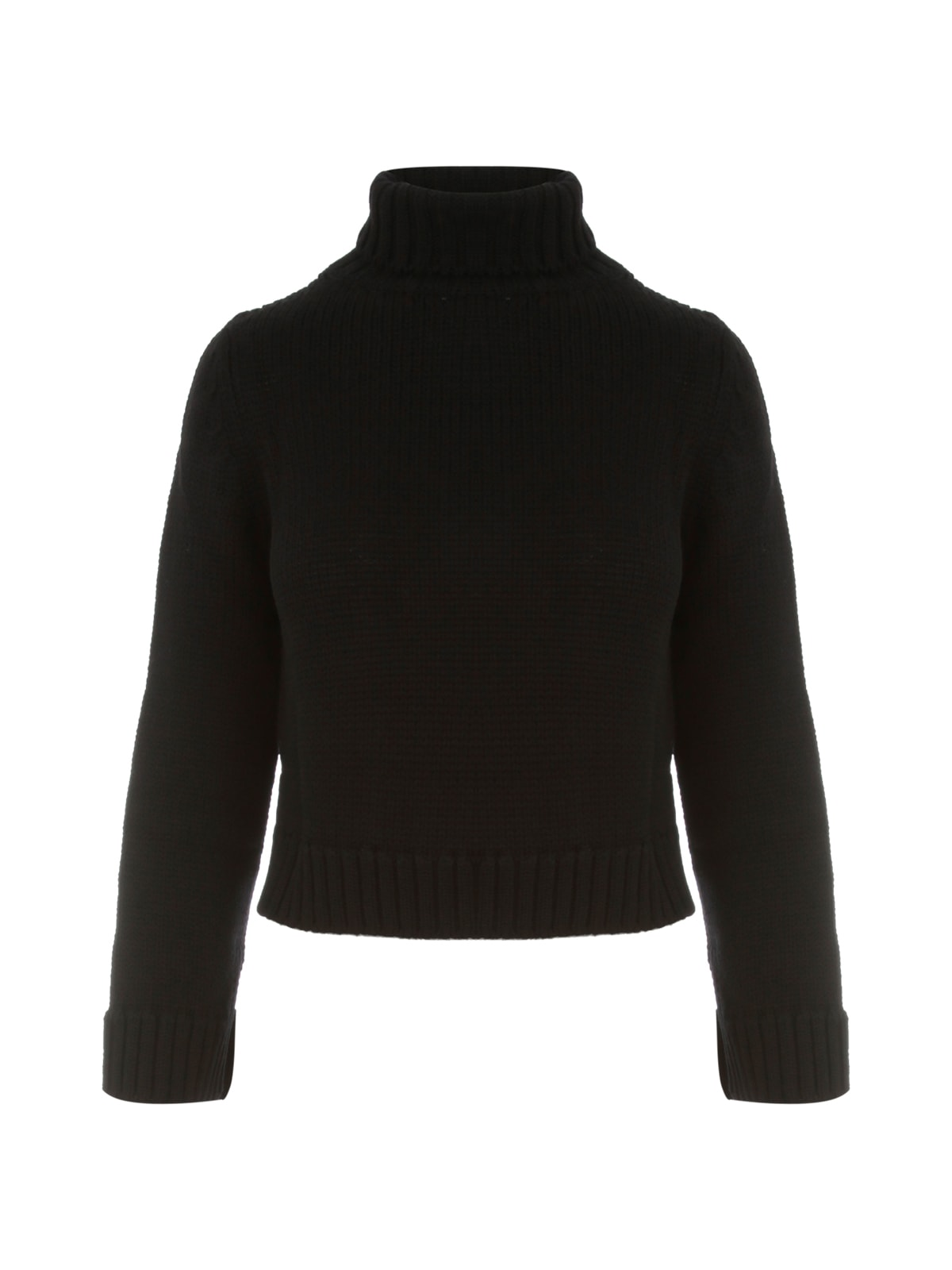 Solid Colour Short Turtle Neck Sweater