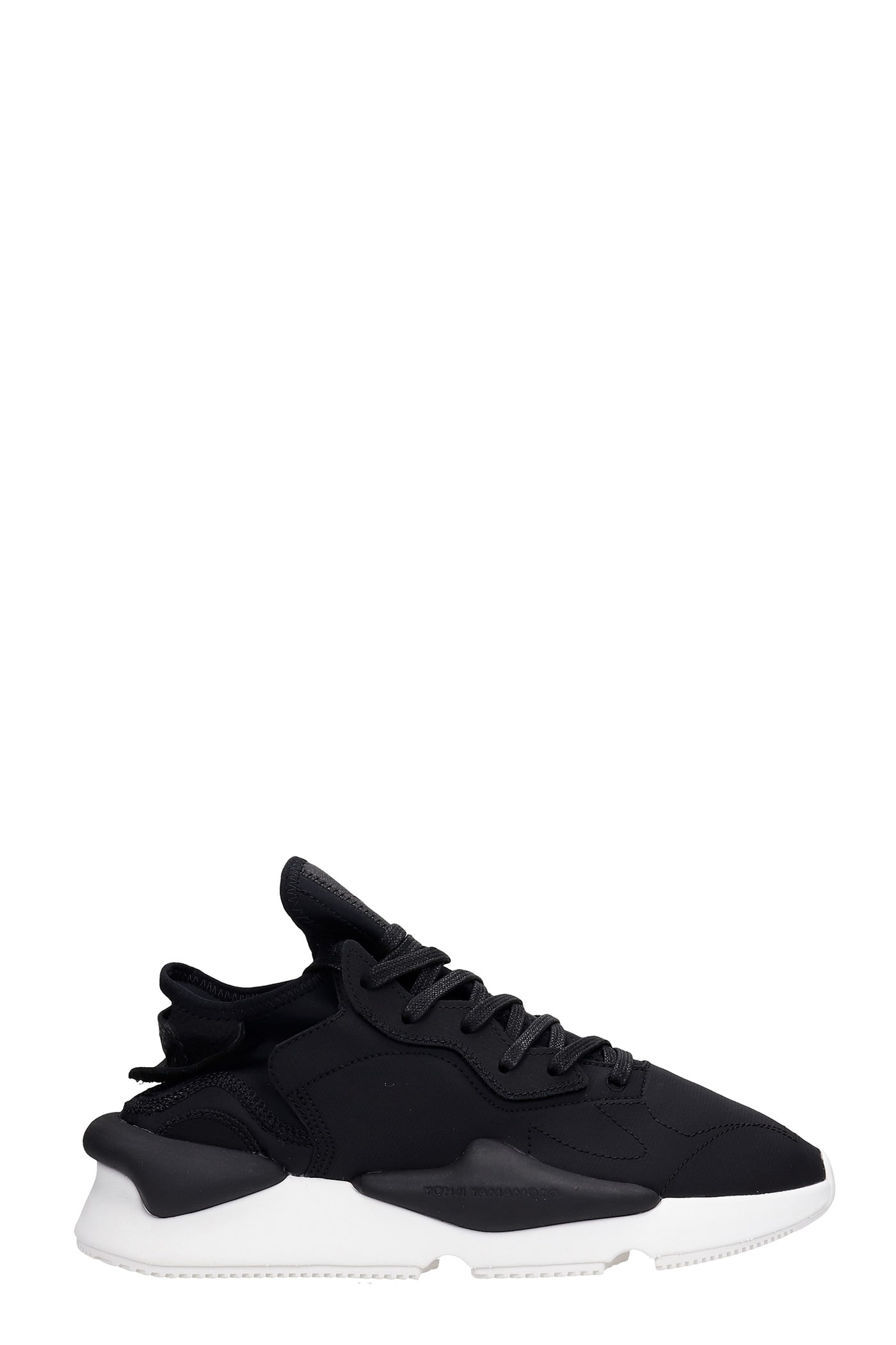 Y-3 Leathers KAIWA SNEAKERS IN BLACK SYNTHETIC FIBERS