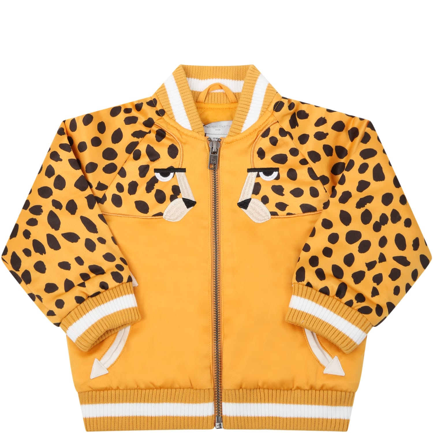 Stella Mccartney ORANGE BOMBER JACKET FOR BABYKIDS