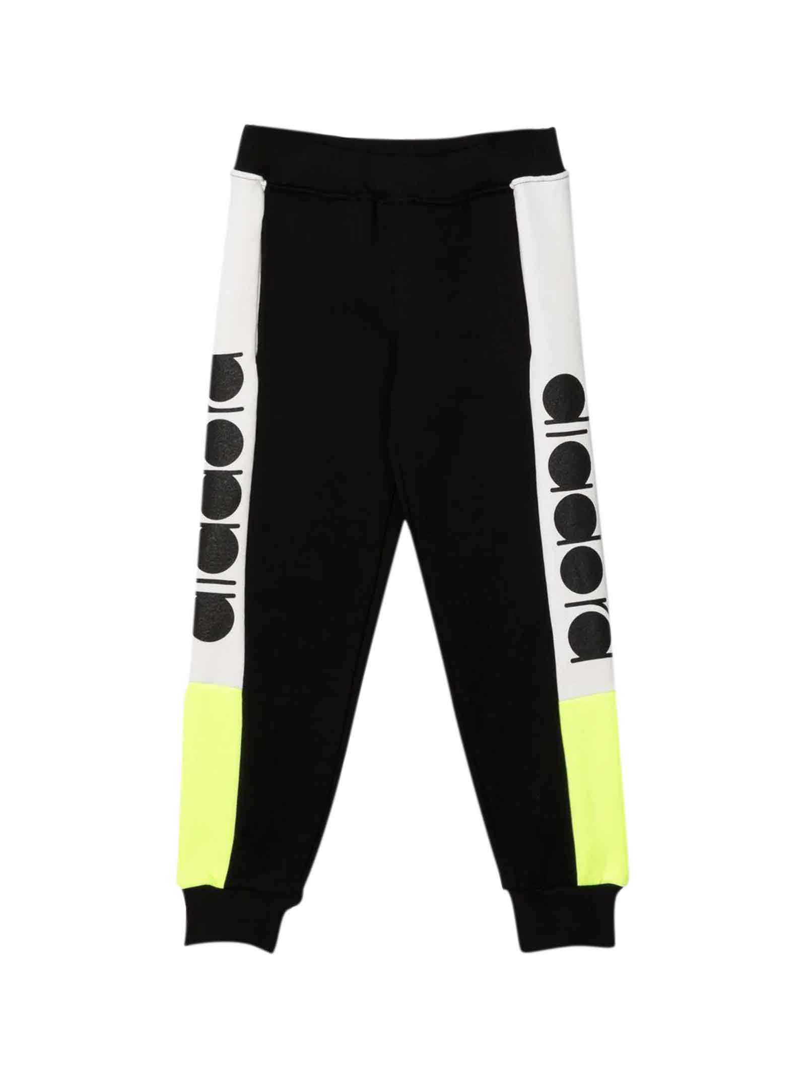 Black Two-tone Jogging Pants