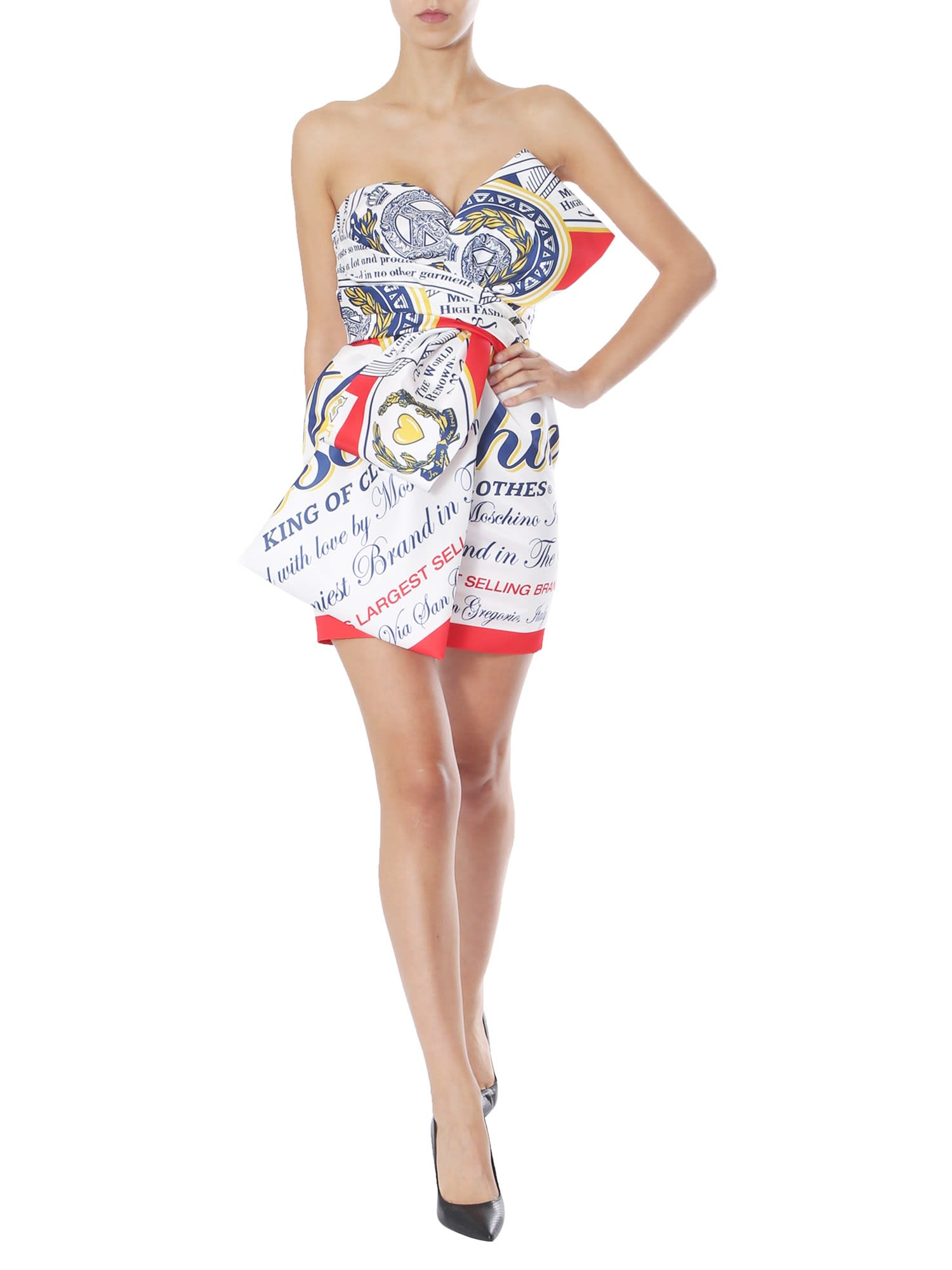 Buy Moschino Bustier Dress online, shop Moschino with free shipping