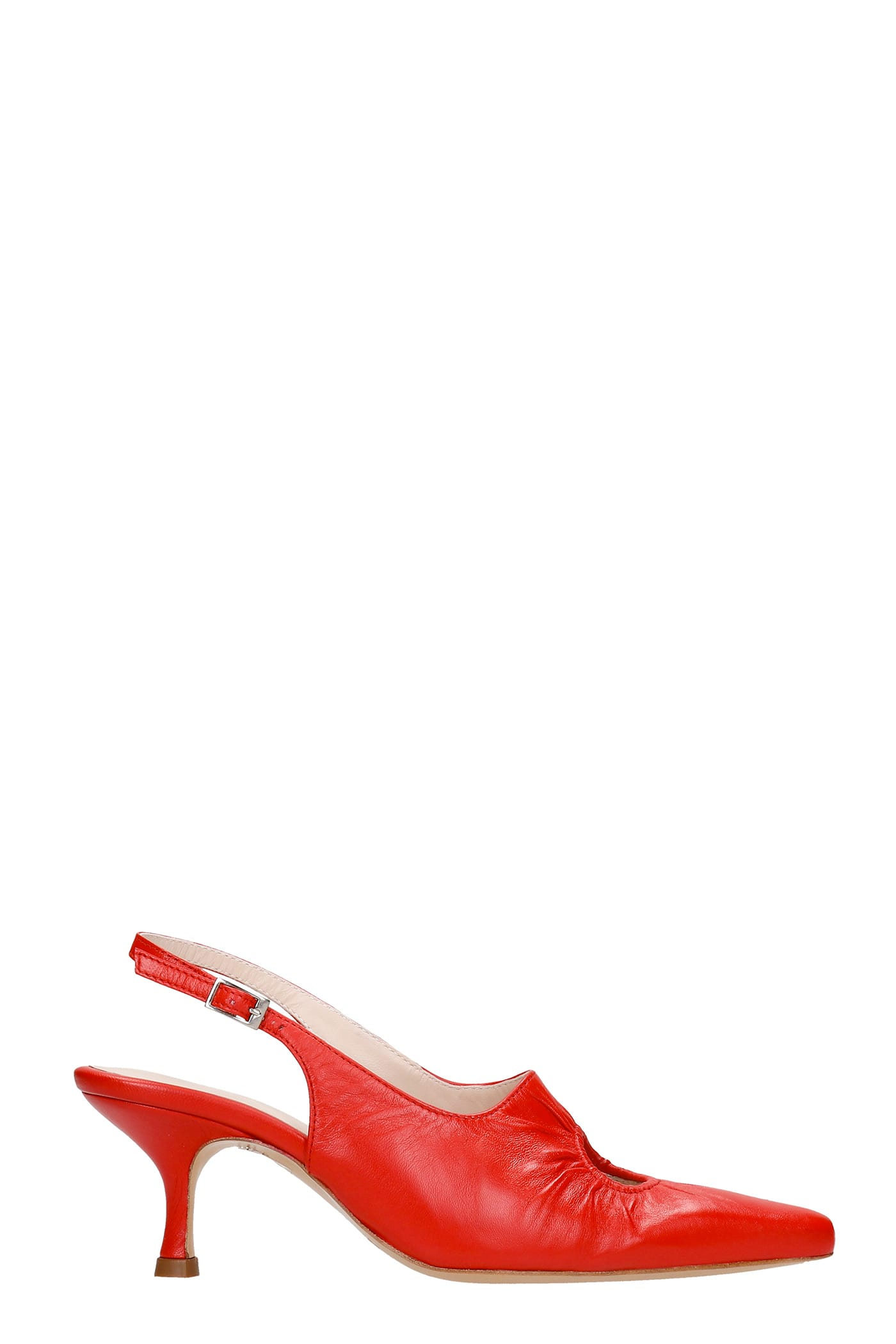 Peki Pumps In Red Leather