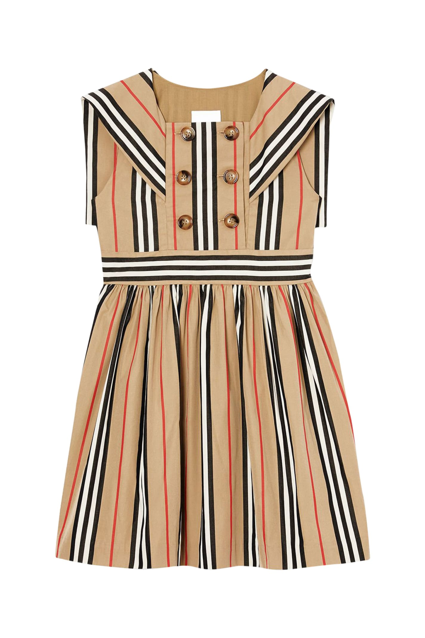 Buy Burberry Kids Striped Dress online, shop Burberry with free shipping