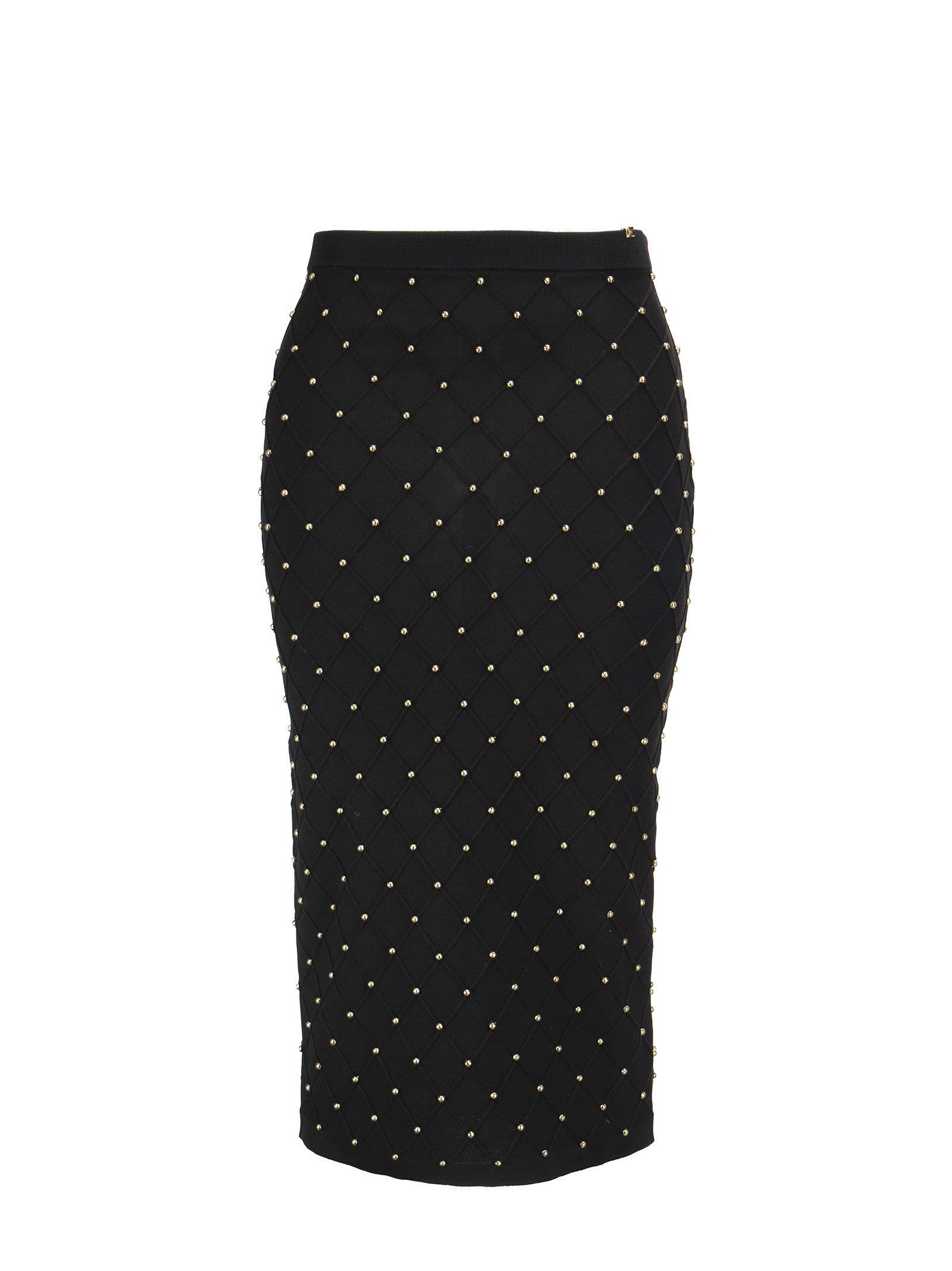 Elisabetta Franchi Knit Calf-length Skirt With Studs