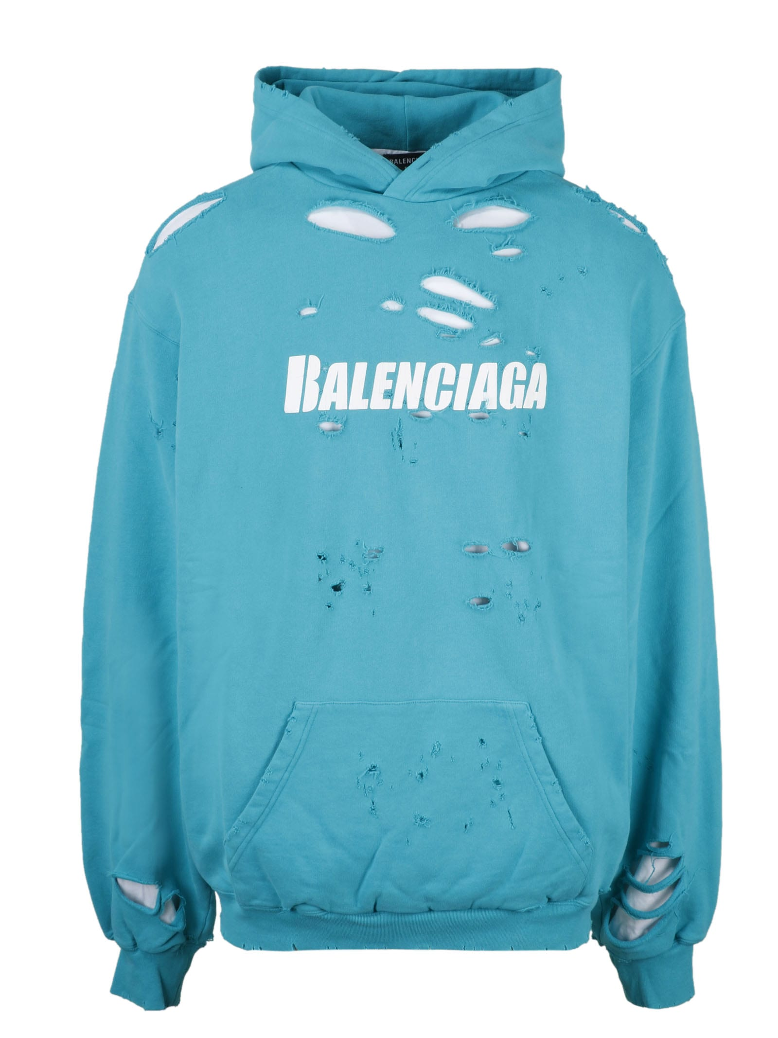 Balenciaga Cottons CAPS DESTROYED HOODIE