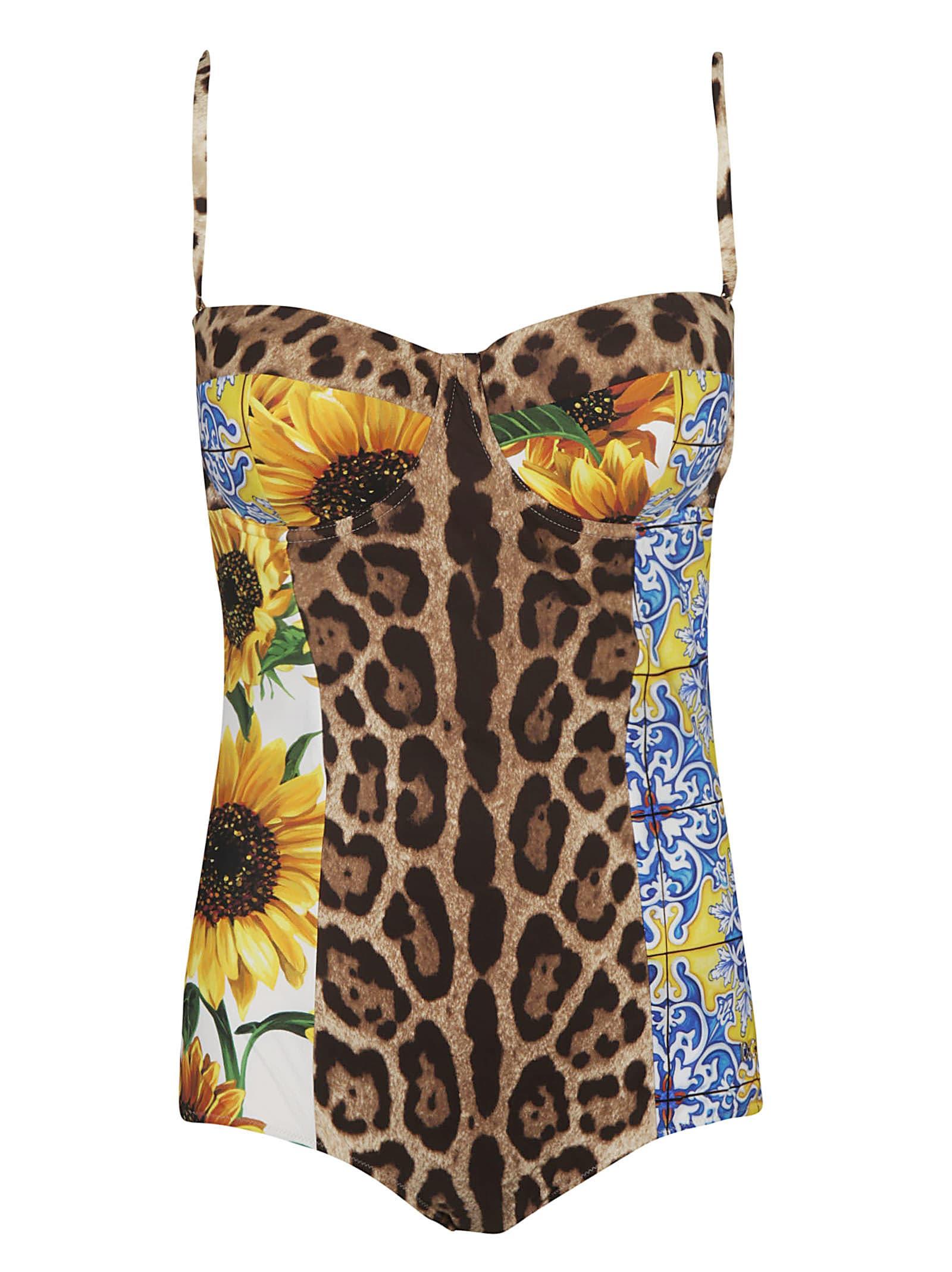 Dolce & Gabbana One-pieces MULTI PRINT SWIMSUIT