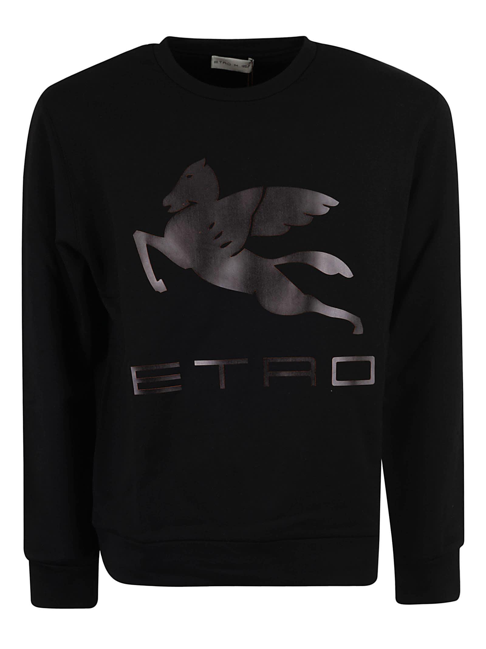 Etro Logo Print Sweatshirt