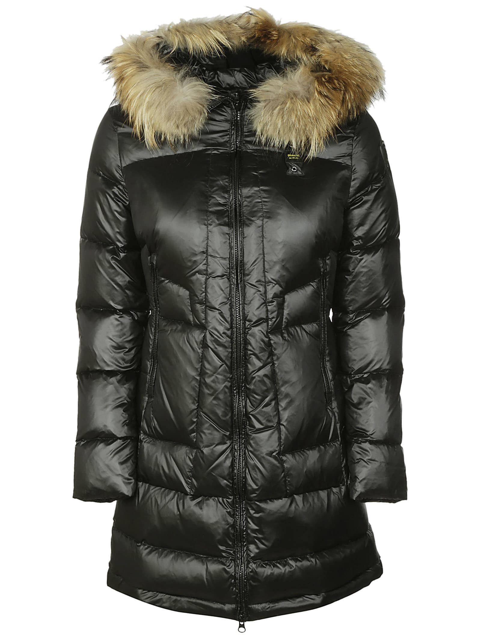 Blauer Furred Hood Mid-length Padded Jacket