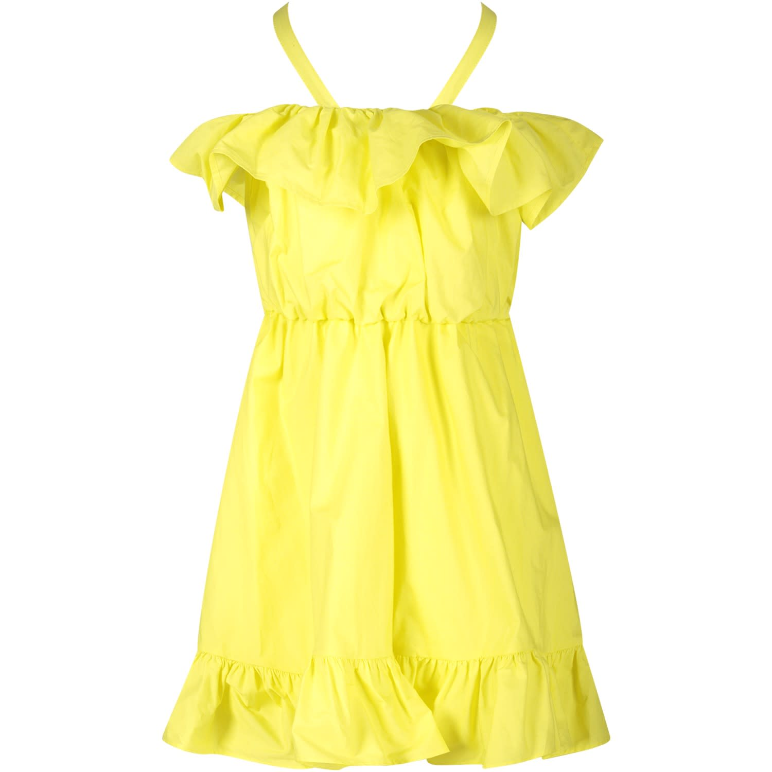 Buy MSGM Yellow Girl Dress online, shop MSGM with free shipping