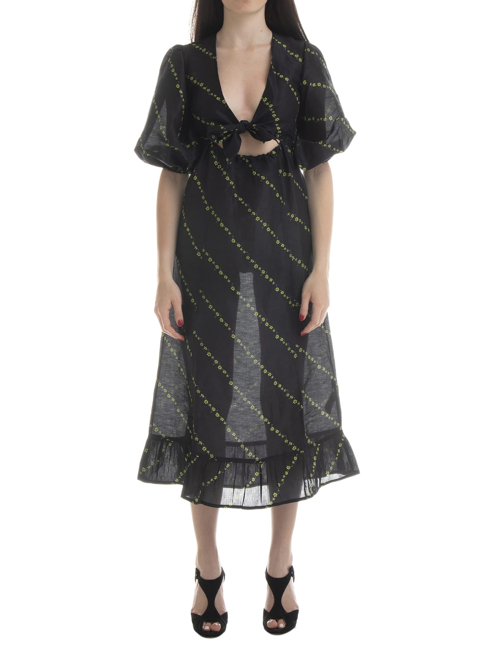 Ganni Silk Linen Dress
