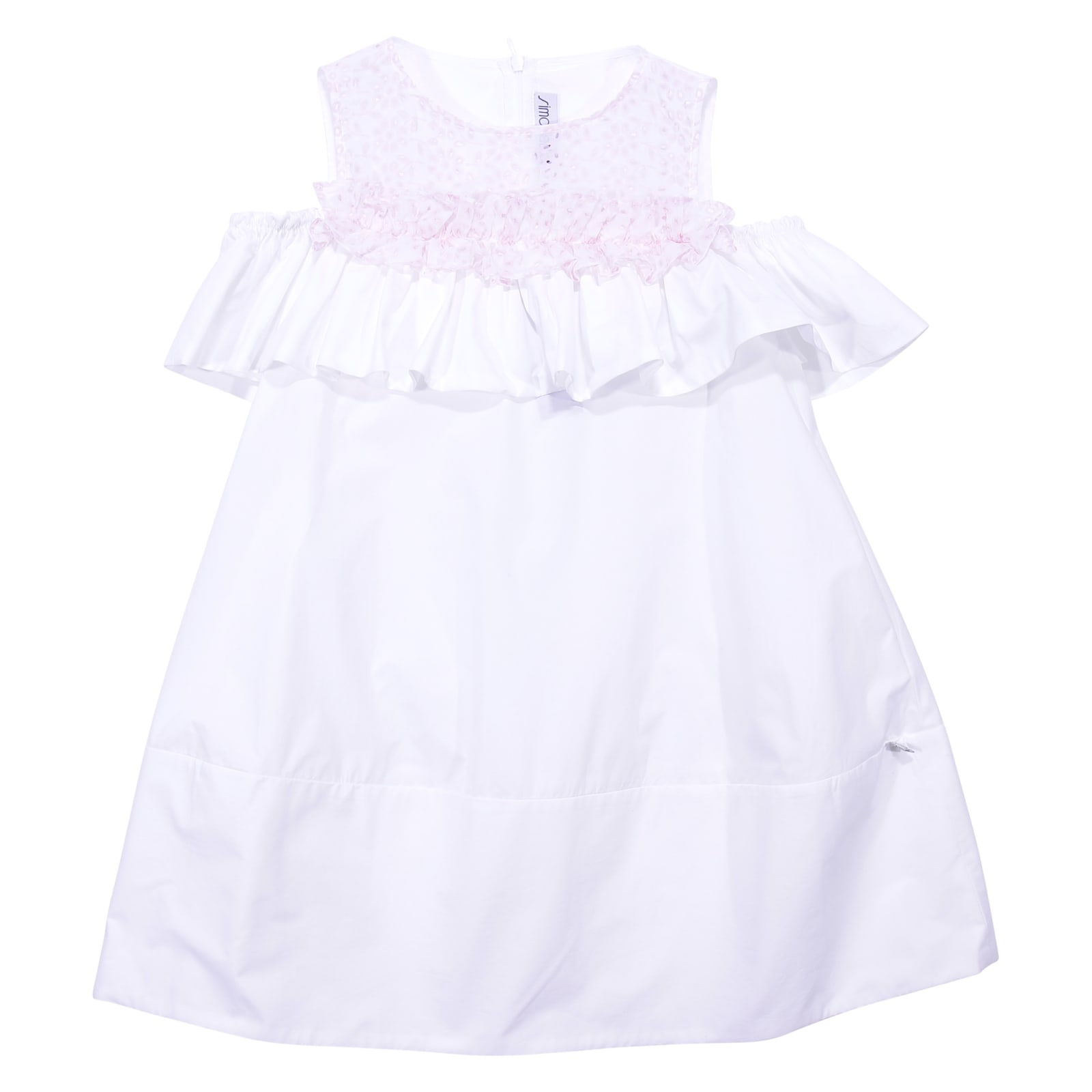 Simonetta White Cotton Poplin Dress