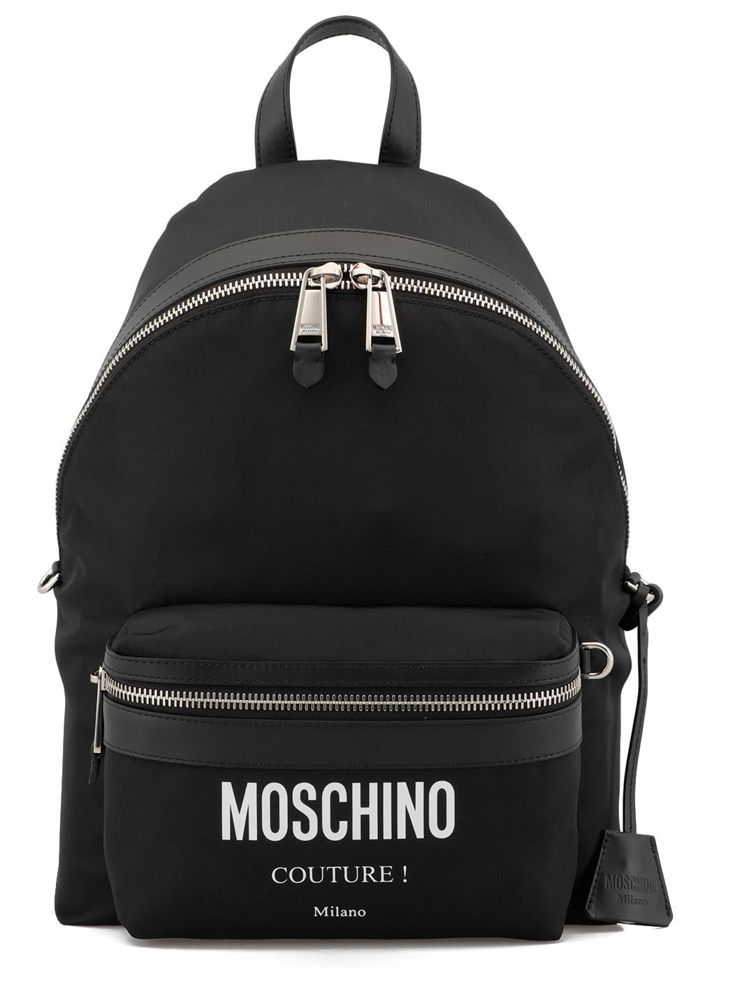MOSCHINO FABRIC BACKPACK