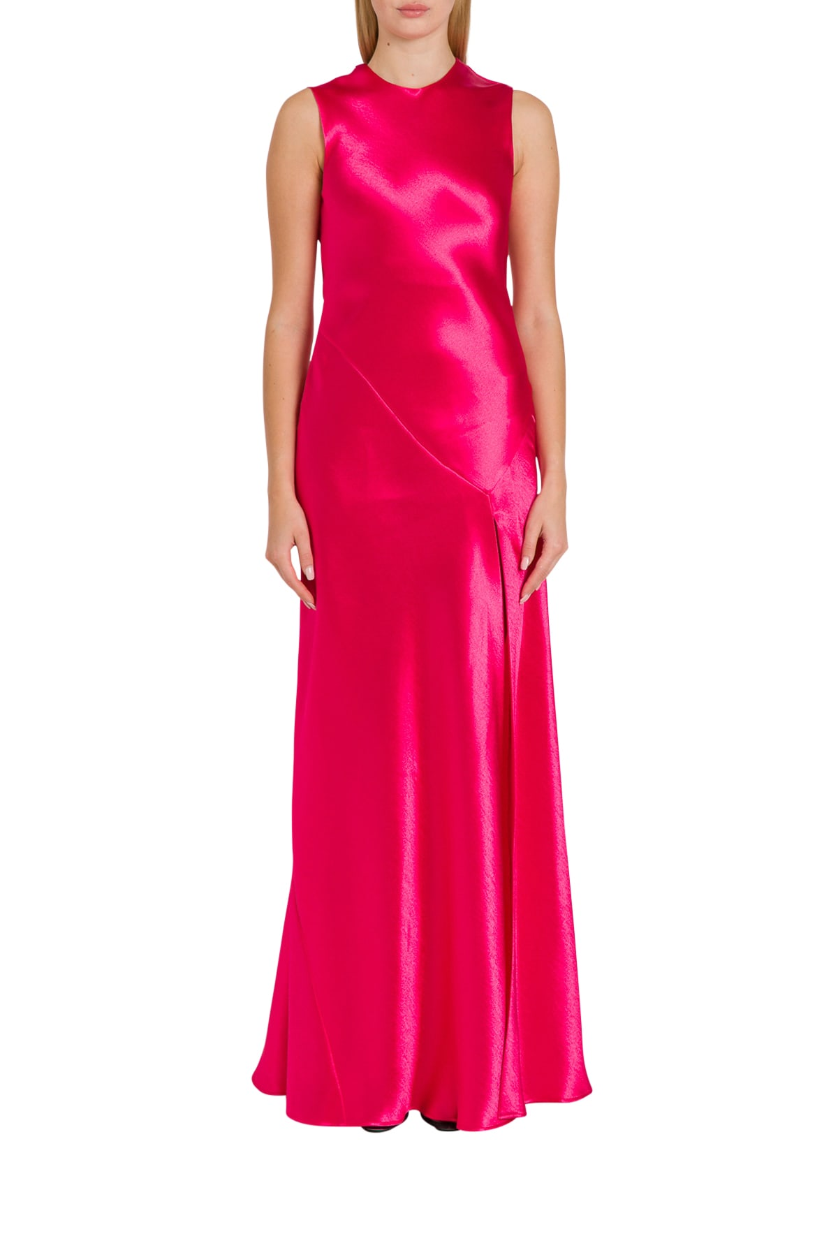 Philosophy di Lorenzo Serafini Satin Long Dress With Slit