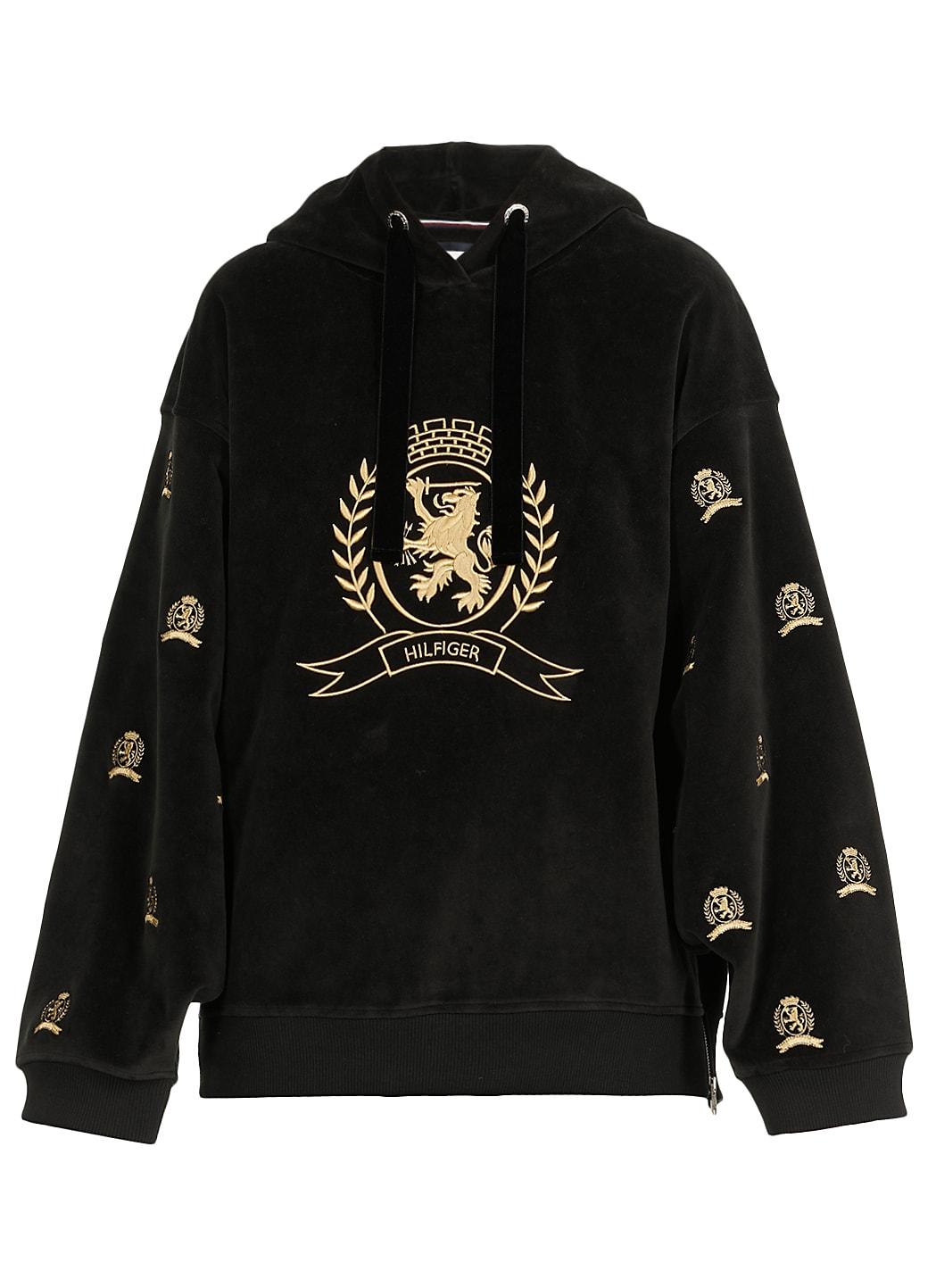 Tommy Hilfiger Velvet Oversize Sweatshirt