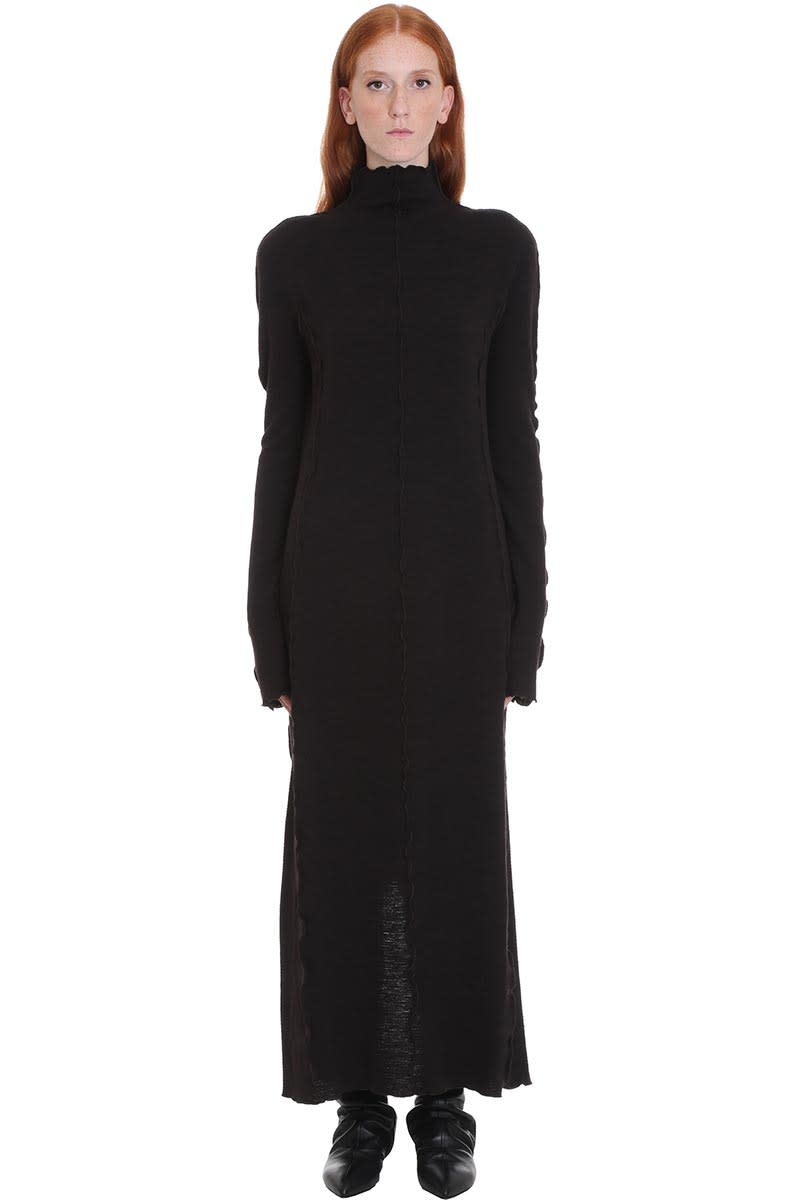 Jil Sander Dress In Black Wool