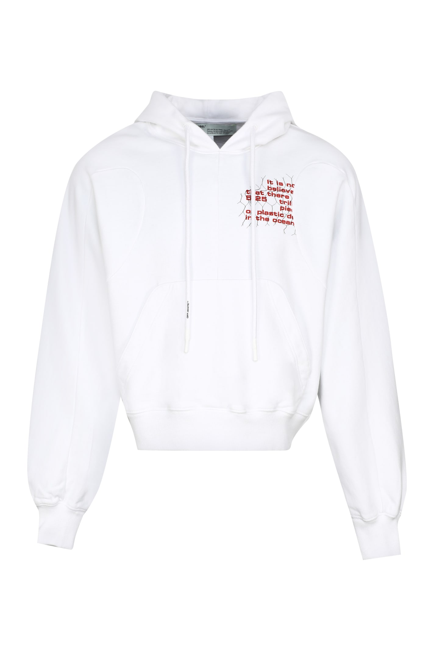 Off-White Printed Cotton Hoodie
