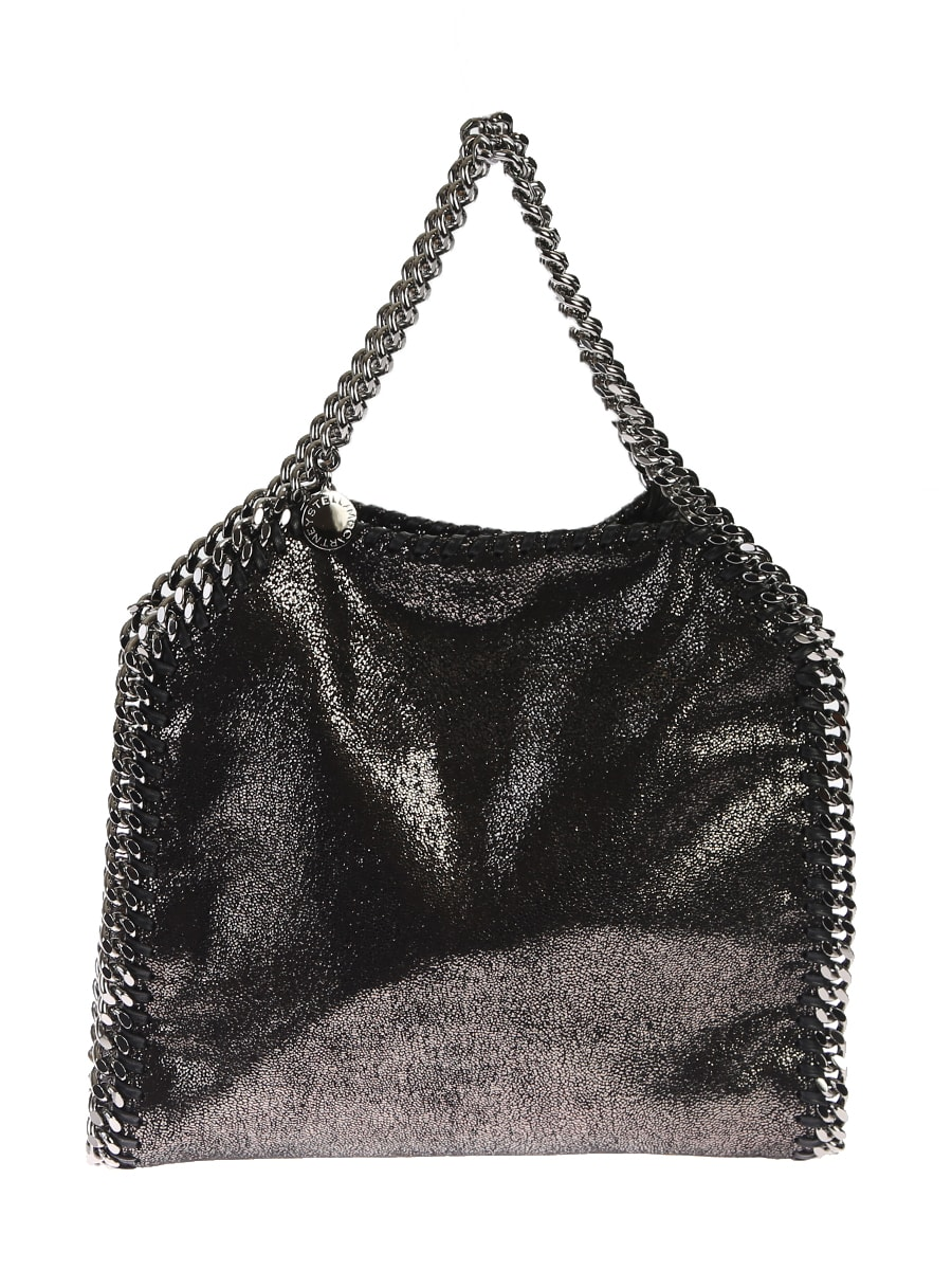 Stella Mccartney Falabella Mini Tote Bag In Metallic